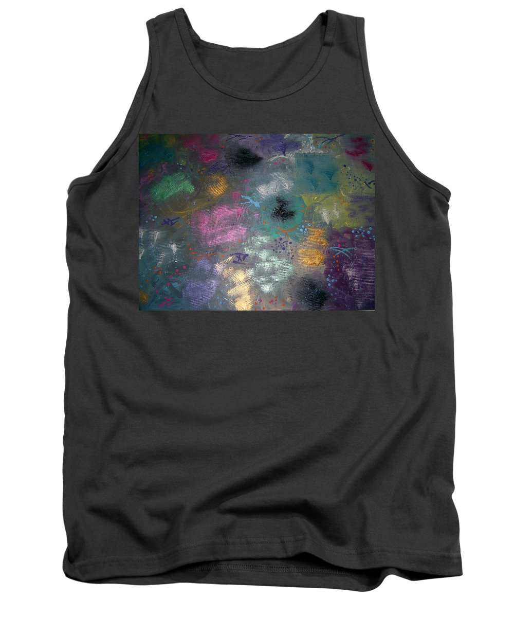 Mix Tank Top featuring the painting Color Splash by Jill Christensen