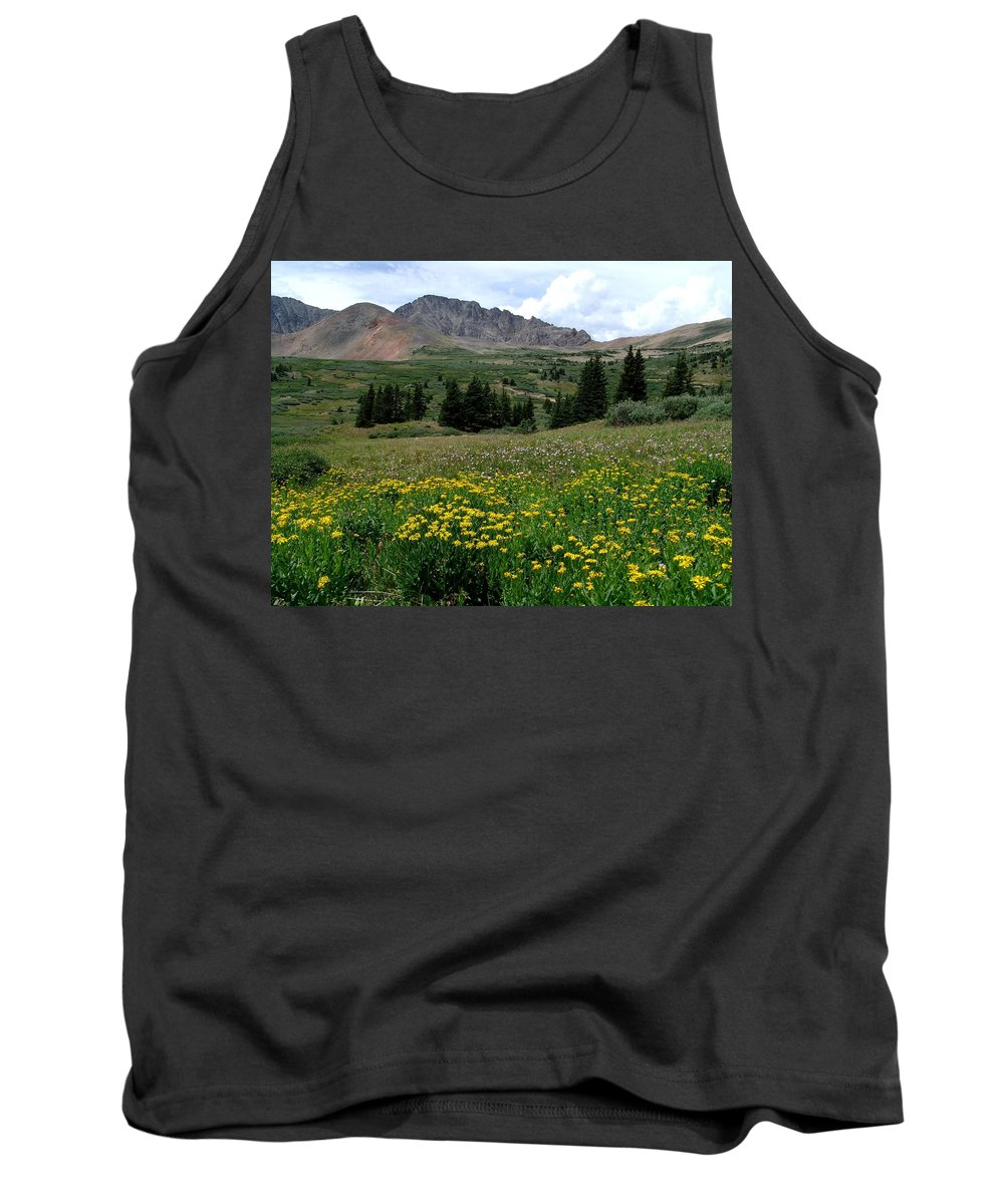 Wildflowers Tank Top featuring the photograph Colorado Wildflower Spectrum by Carol Milisen