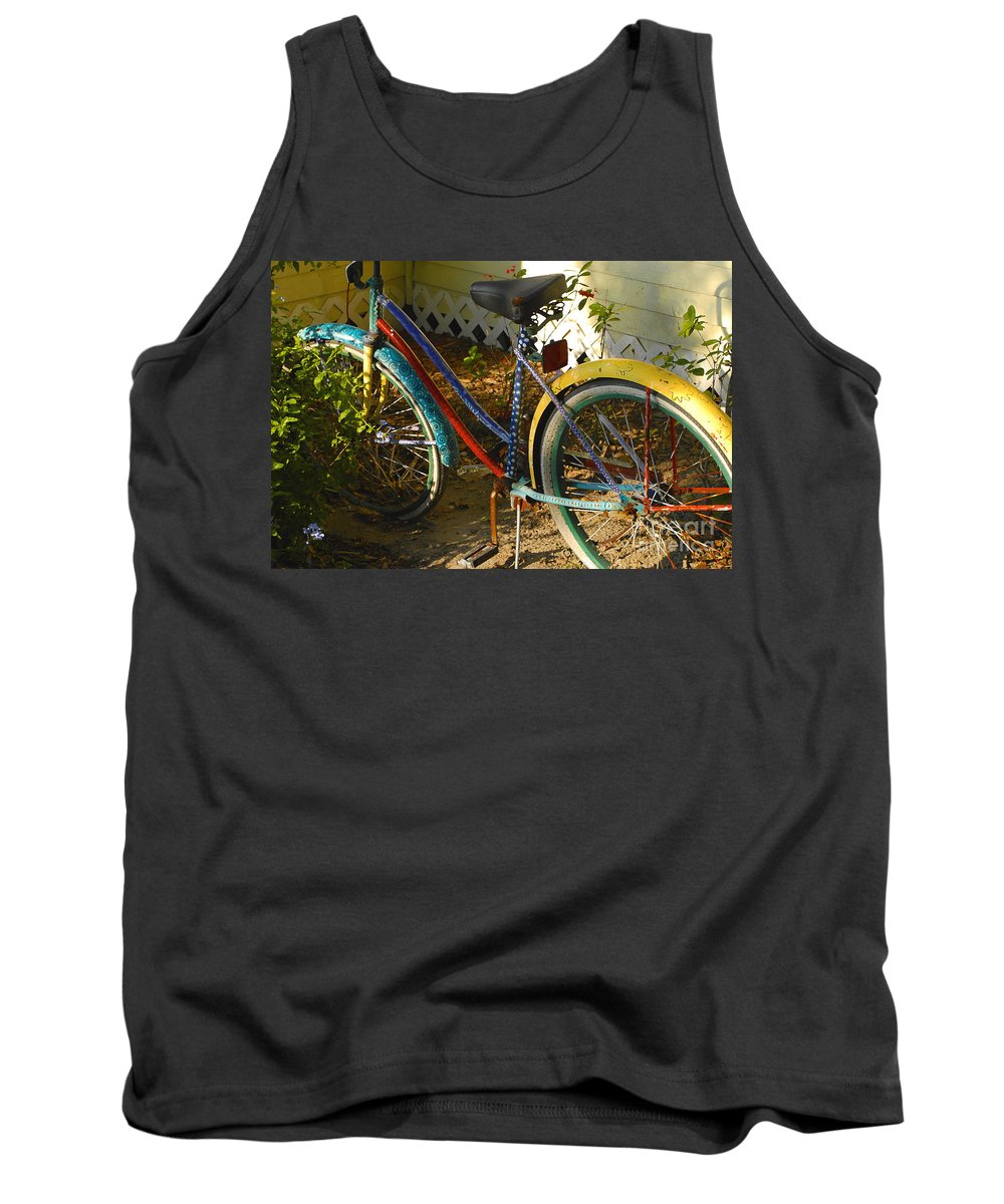 Bicycle Tank Top featuring the photograph Colorful Bike by David Lee Thompson