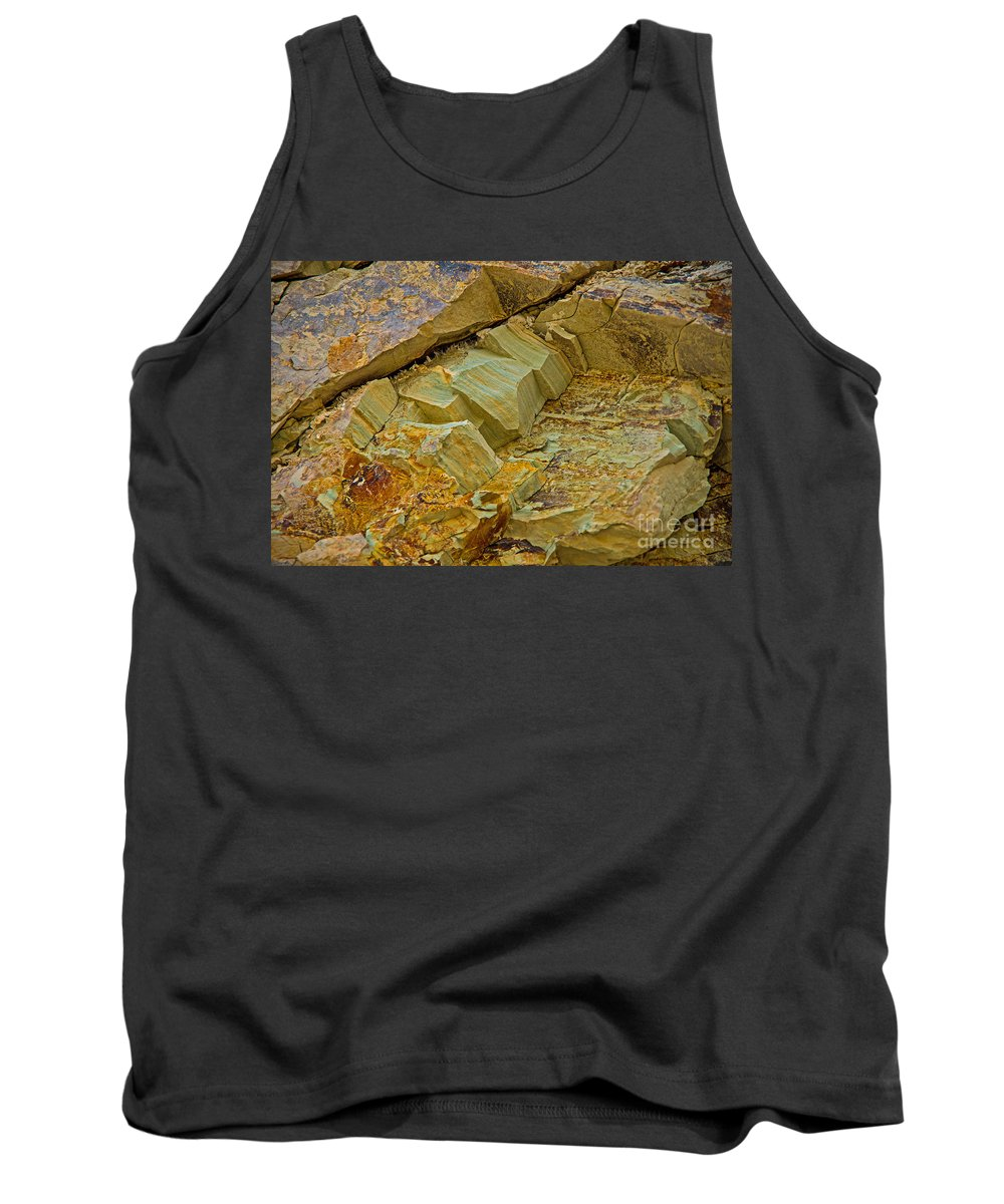 Rocks Tank Top featuring the photograph Colorful Rocks by Stephen Whalen