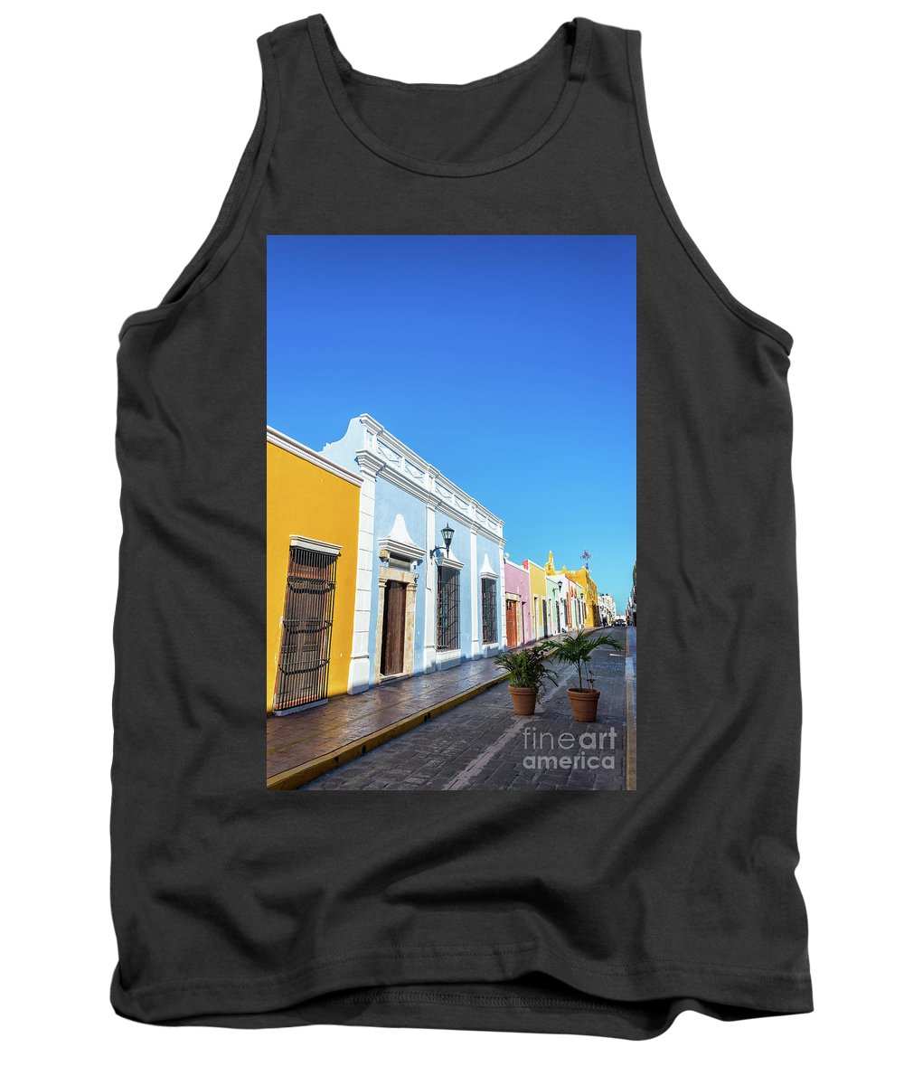 Campeche Tank Top featuring the photograph Colorful Street In Campeche, Mexico by Jess Kraft