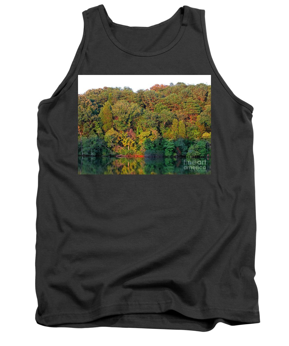 Landscape Tank Top featuring the photograph Colorful Sunset by Todd A Blanchard