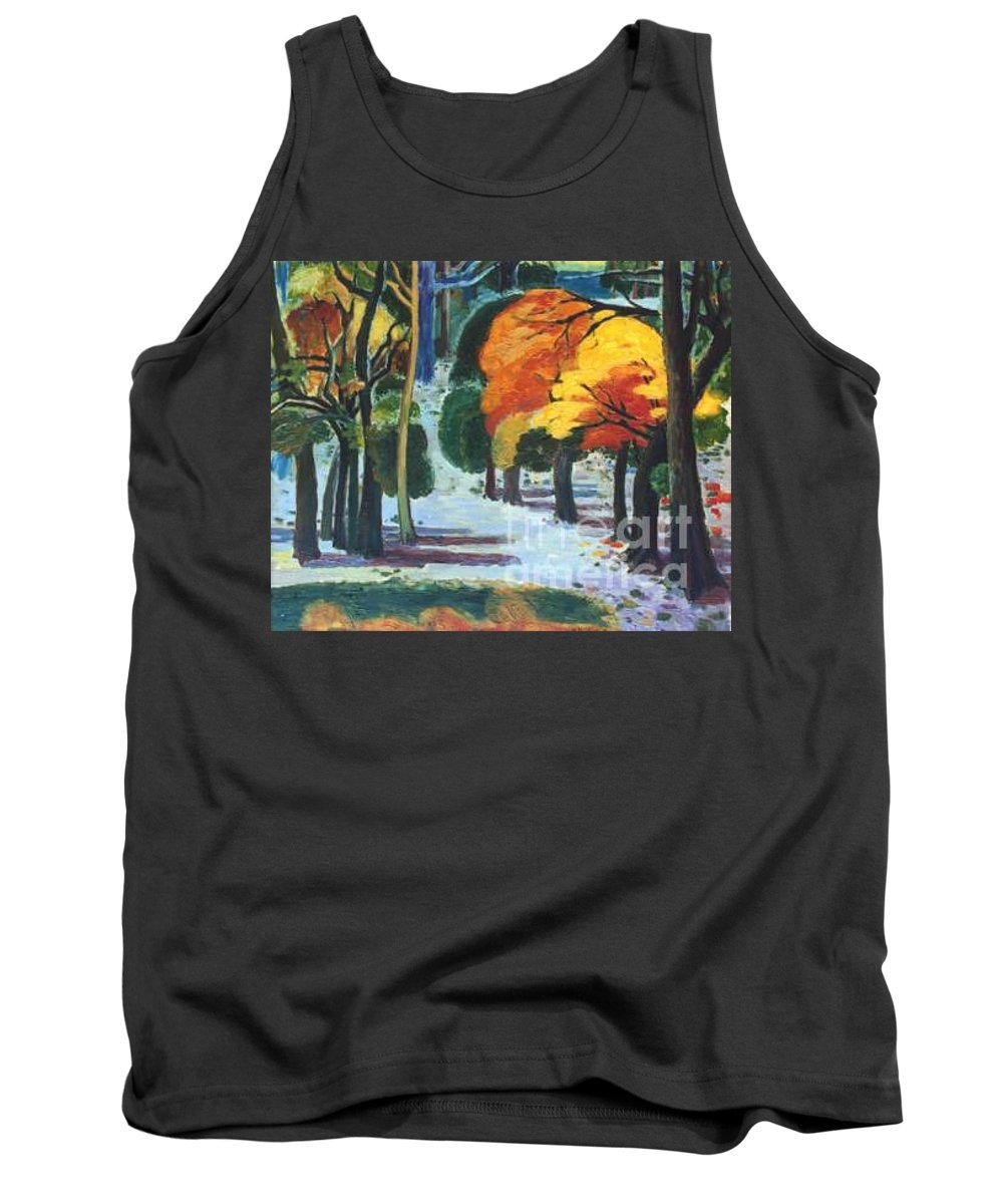 Colors Tank Top featuring the painting Colors Of Fall by Meihua Lu