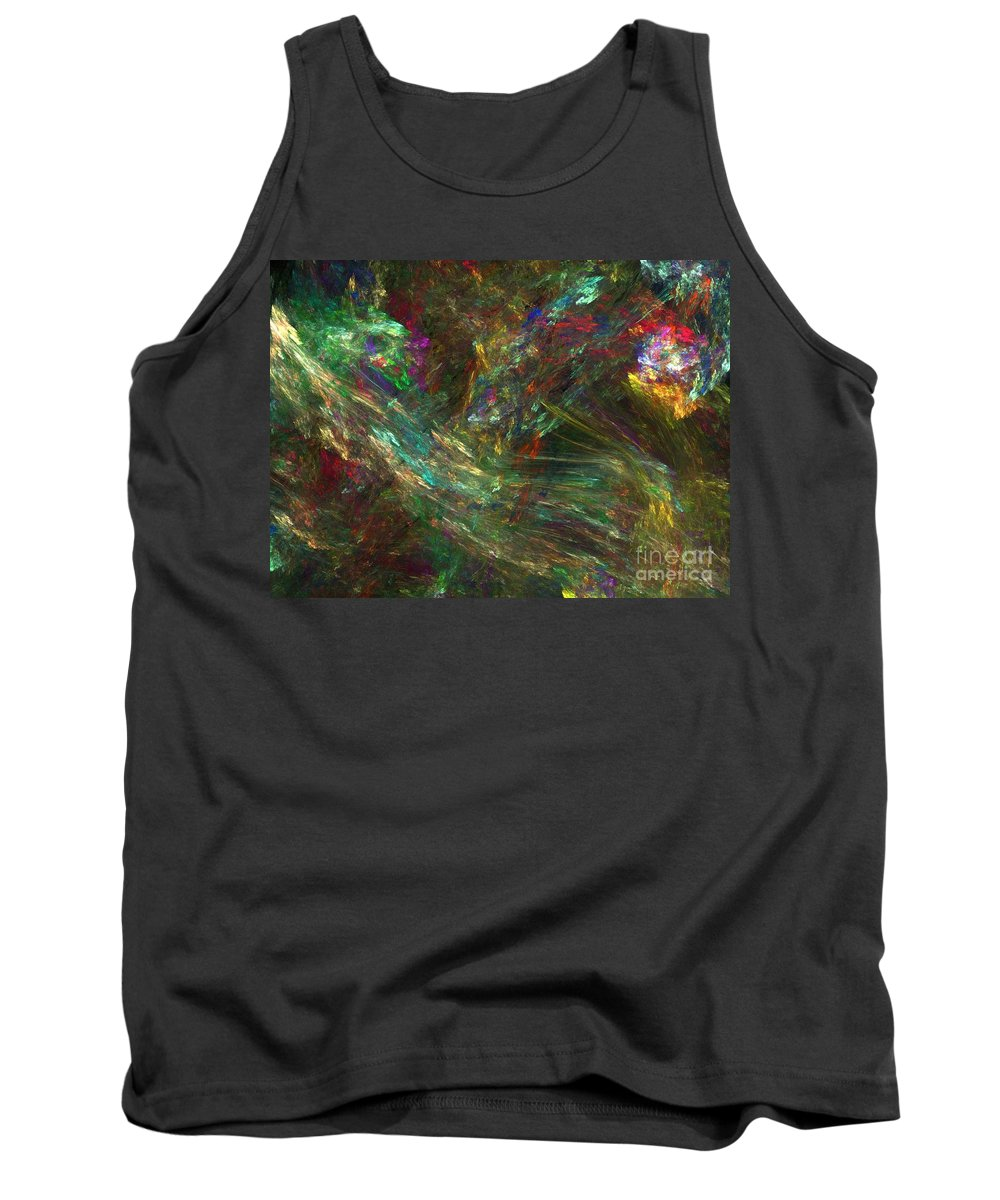 Fractals Tank Top featuring the digital art Colors Of Light by Richard Rizzo