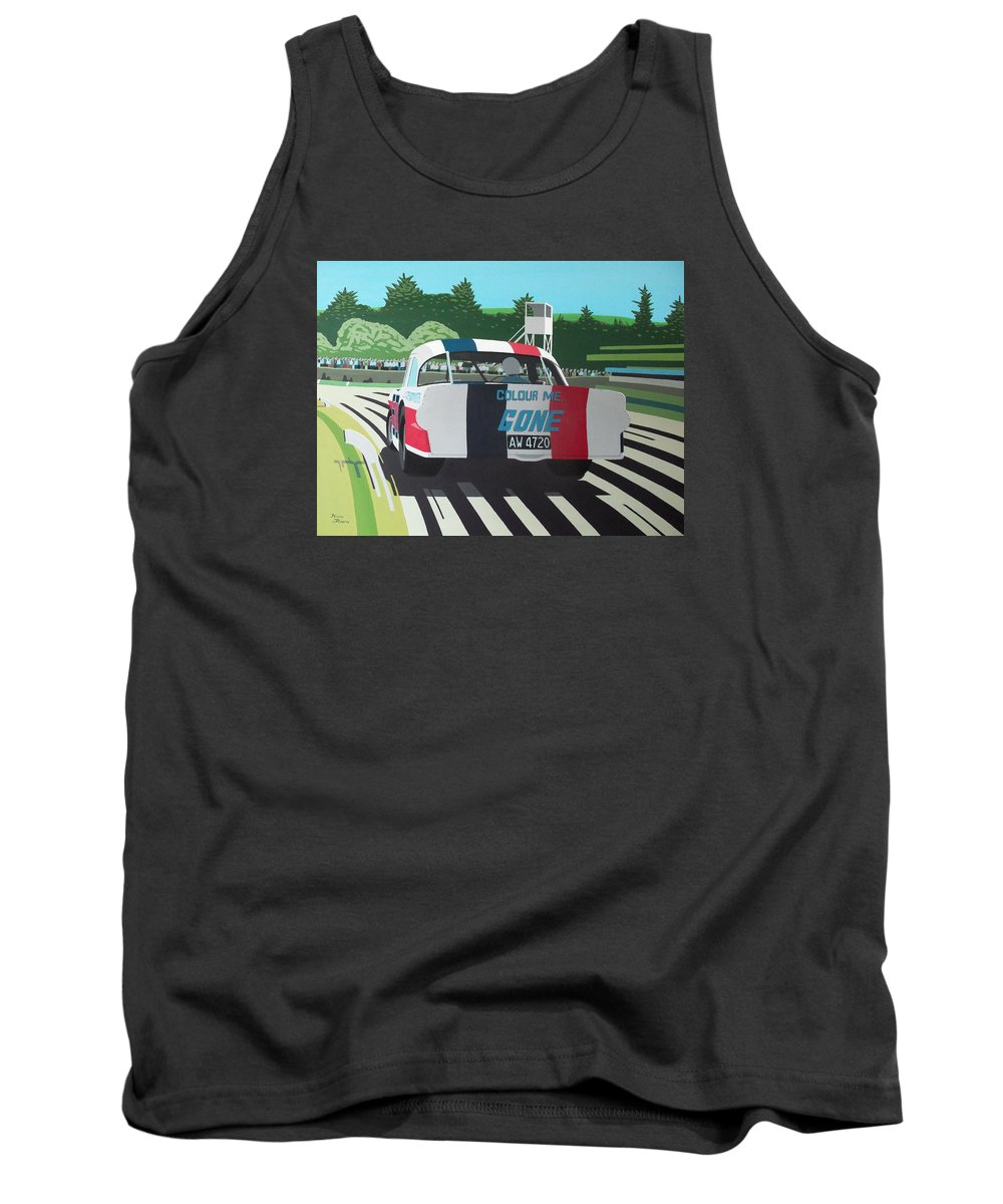 Custaxie Tank Top featuring the painting Colour Me Gone by Kieran Roberts