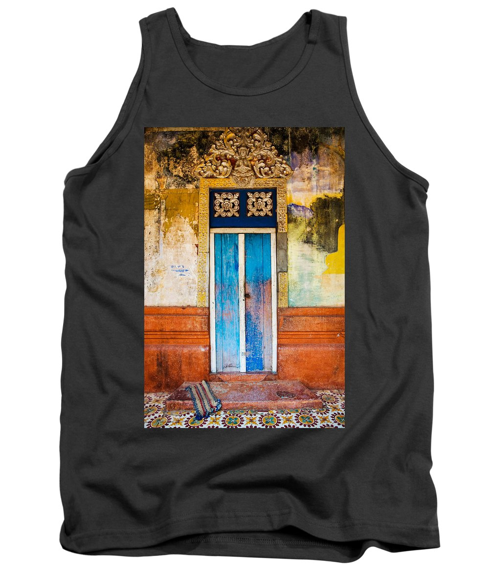 Cambodia Tank Top featuring the photograph Colourful Door by Dave Bowman