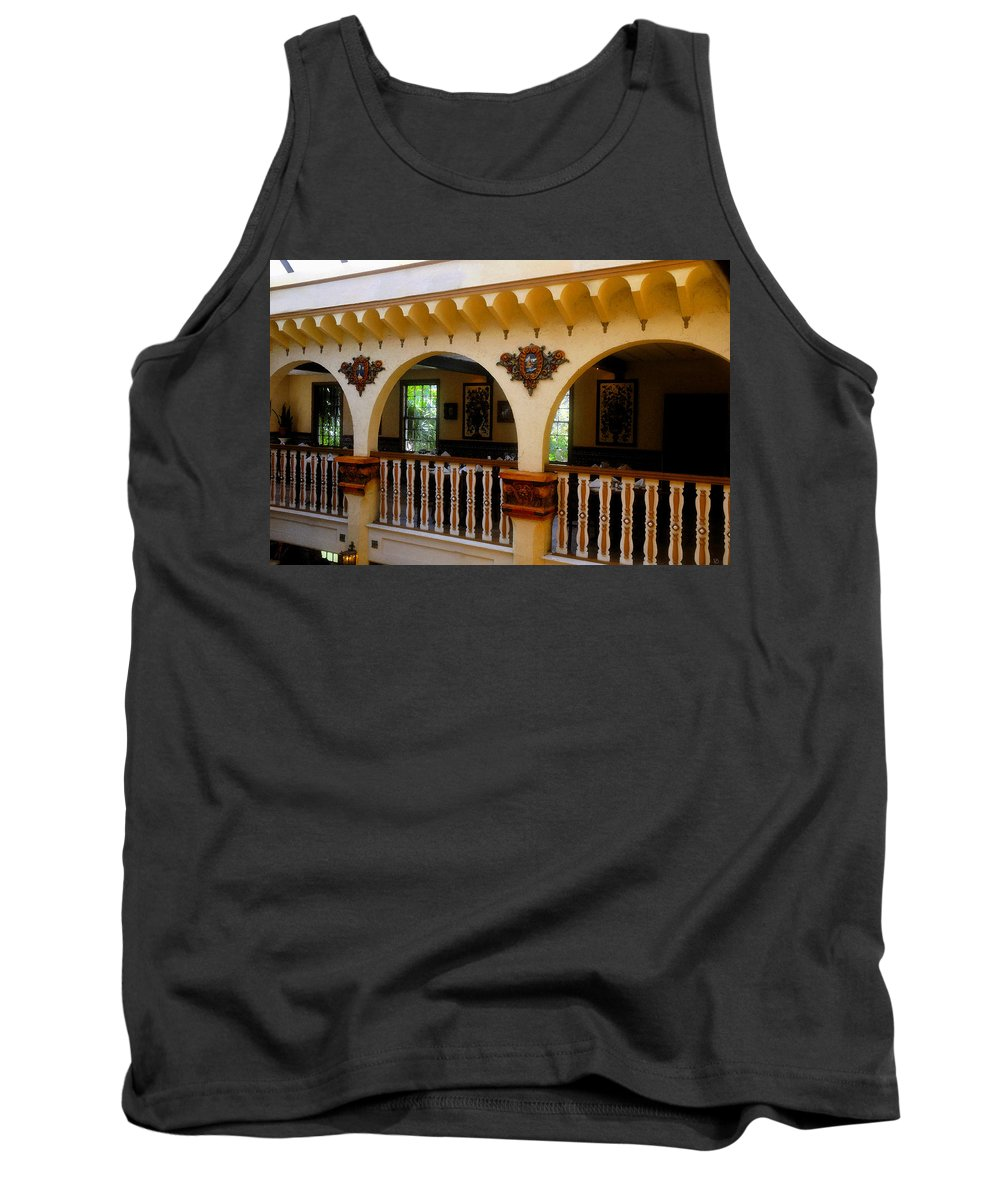 Columbia Restaurant Tank Top featuring the painting Columbia Restaurant Work Number Three by David Lee Thompson