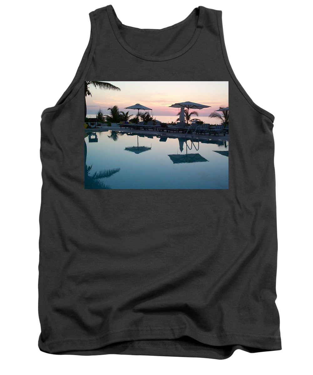 Charity Tank Top featuring the photograph Columbus Isle by Mary-Lee Sanders