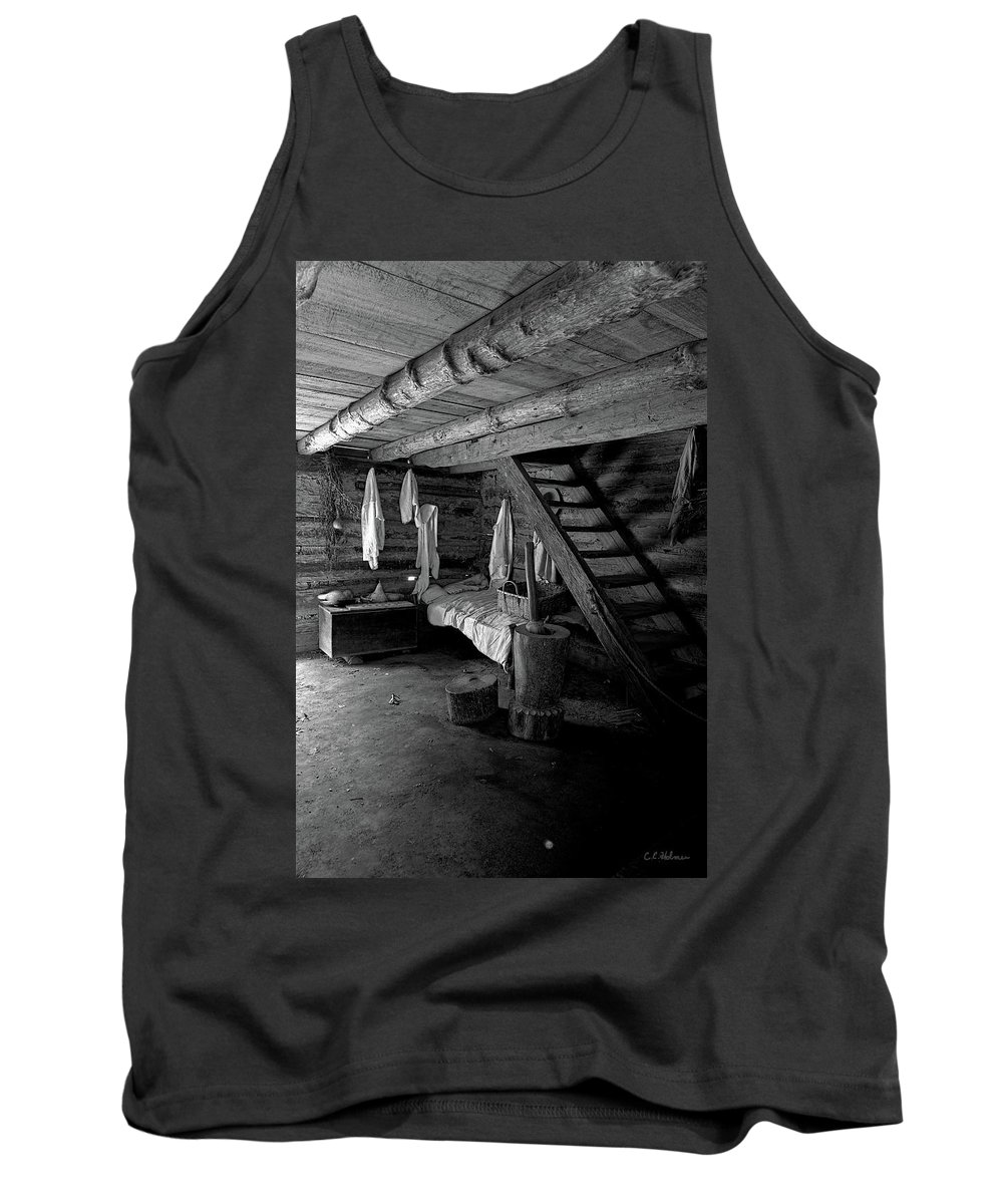 Barn Tank Top featuring the photograph Comfy Corner - B-w by Christopher Holmes