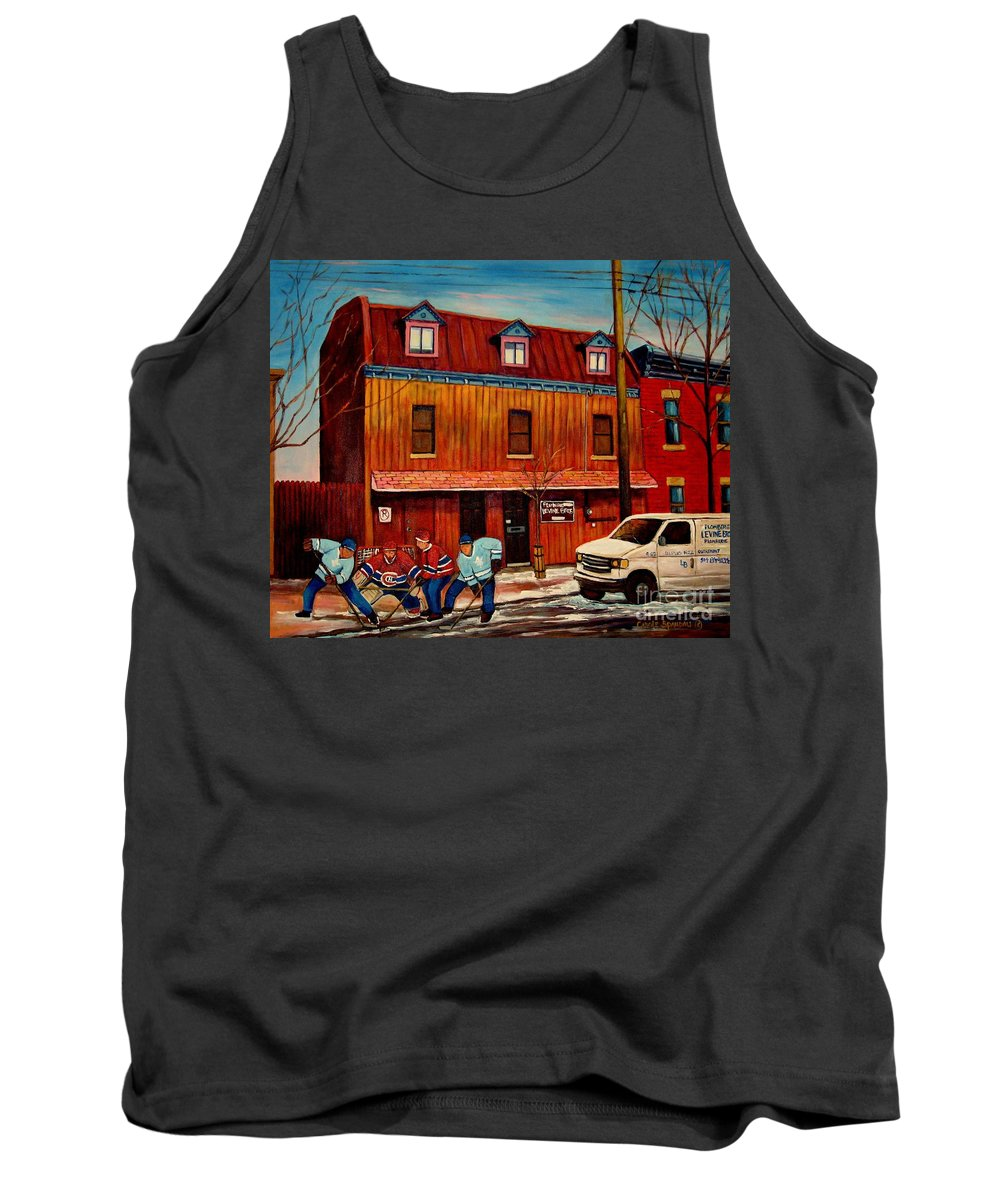 Levine Brothers Plumbers Tank Top featuring the painting Commission Me Your Store by Carole Spandau