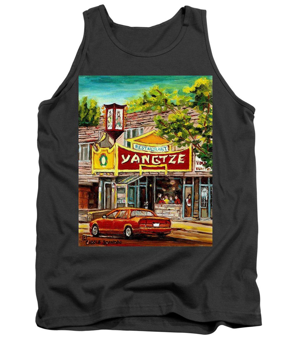 Commissions Tank Top featuring the painting Commissioned Building Portraits By Carole Spandau Classically Trained Artist by Carole Spandau
