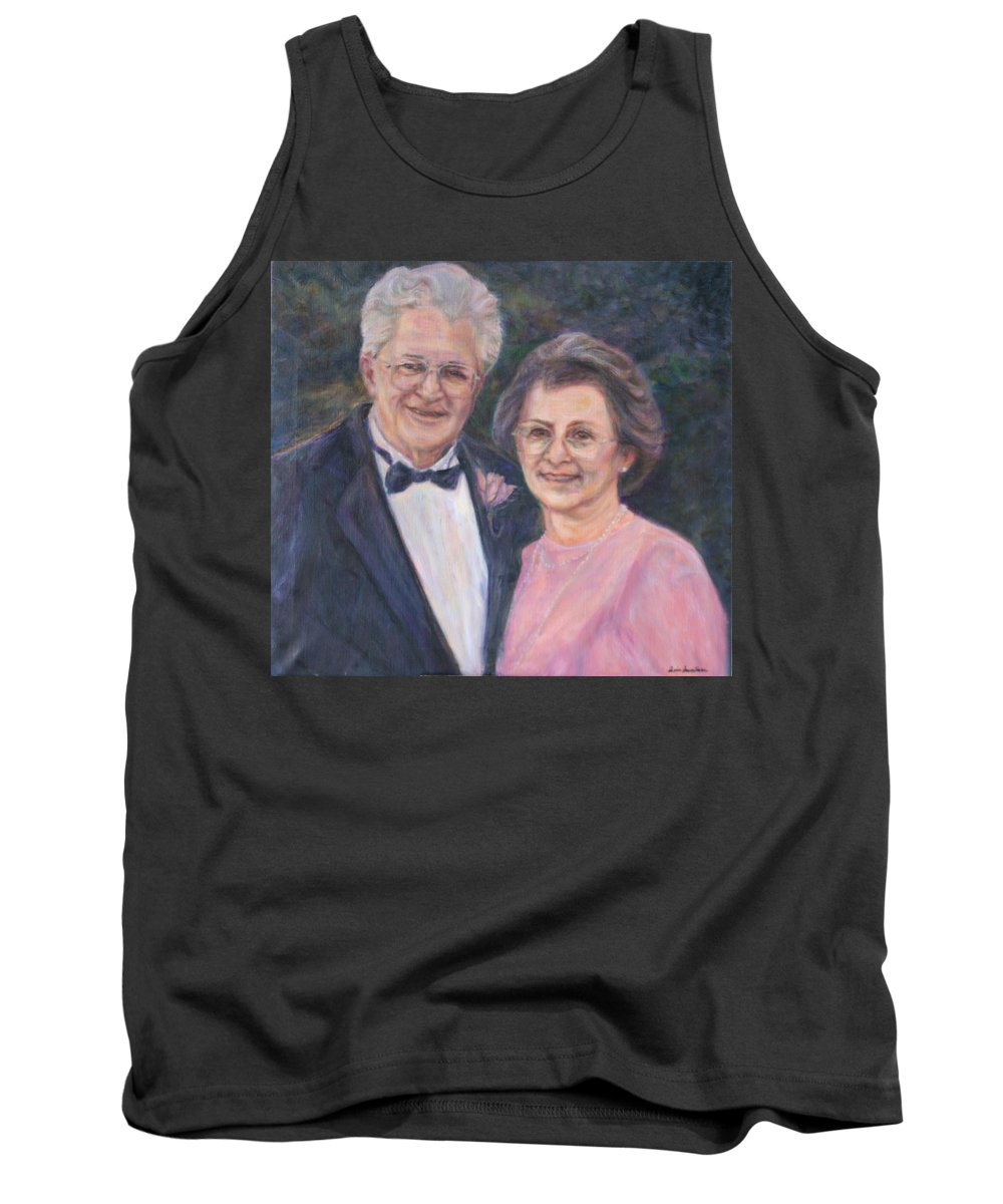 Portrait Tank Top featuring the painting Commissioned Portrait Painting by Quin Sweetman