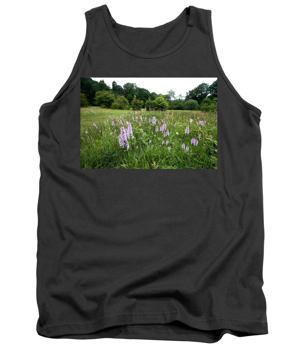 Orchid Tank Top featuring the photograph Common Spotted Orchids by Bob Kemp