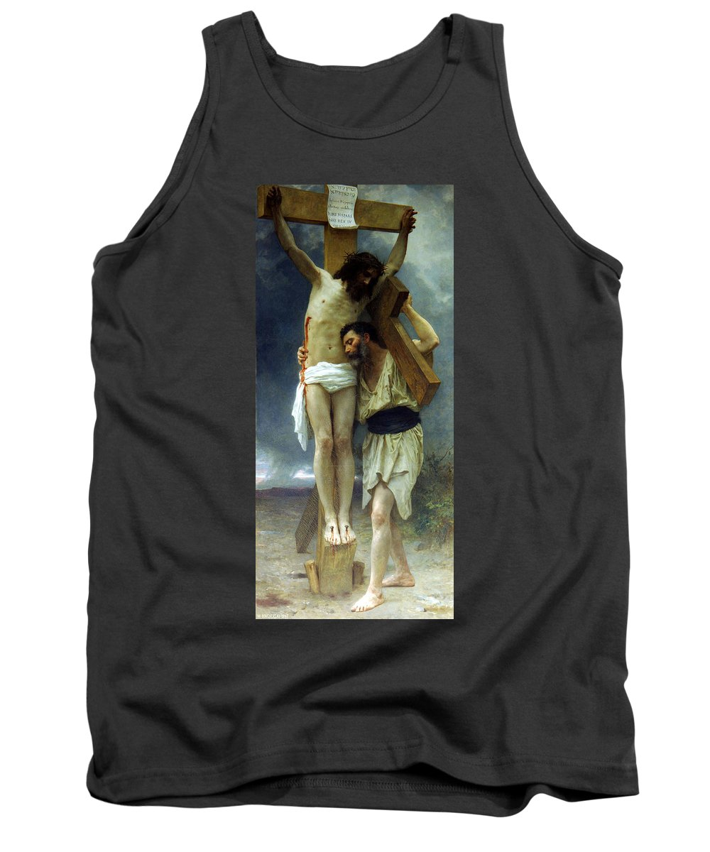 William Tank Top featuring the painting Compassion by William Adolphe Bouguereau