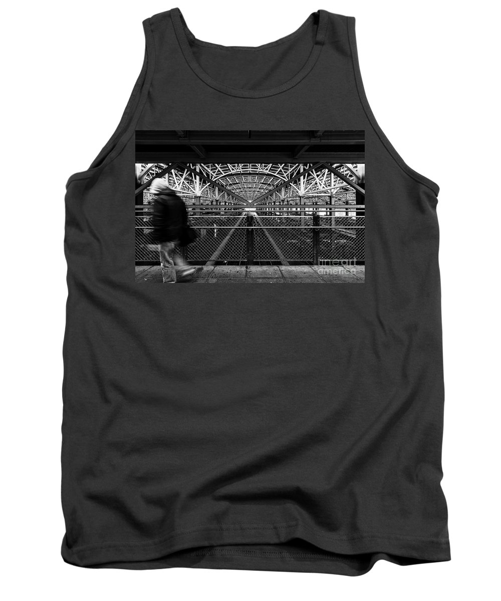 Symmetry Tank Top featuring the photograph Coney Island Stillwell Ave Subway Station by Edi Chen