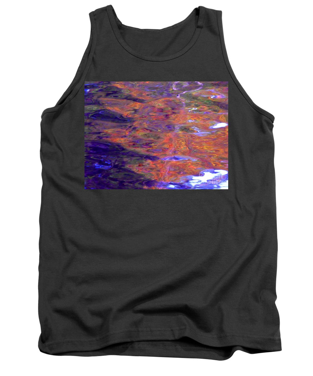 Abstract Tank Top featuring the photograph Contour Of Hot Energy Lines by Sybil Staples