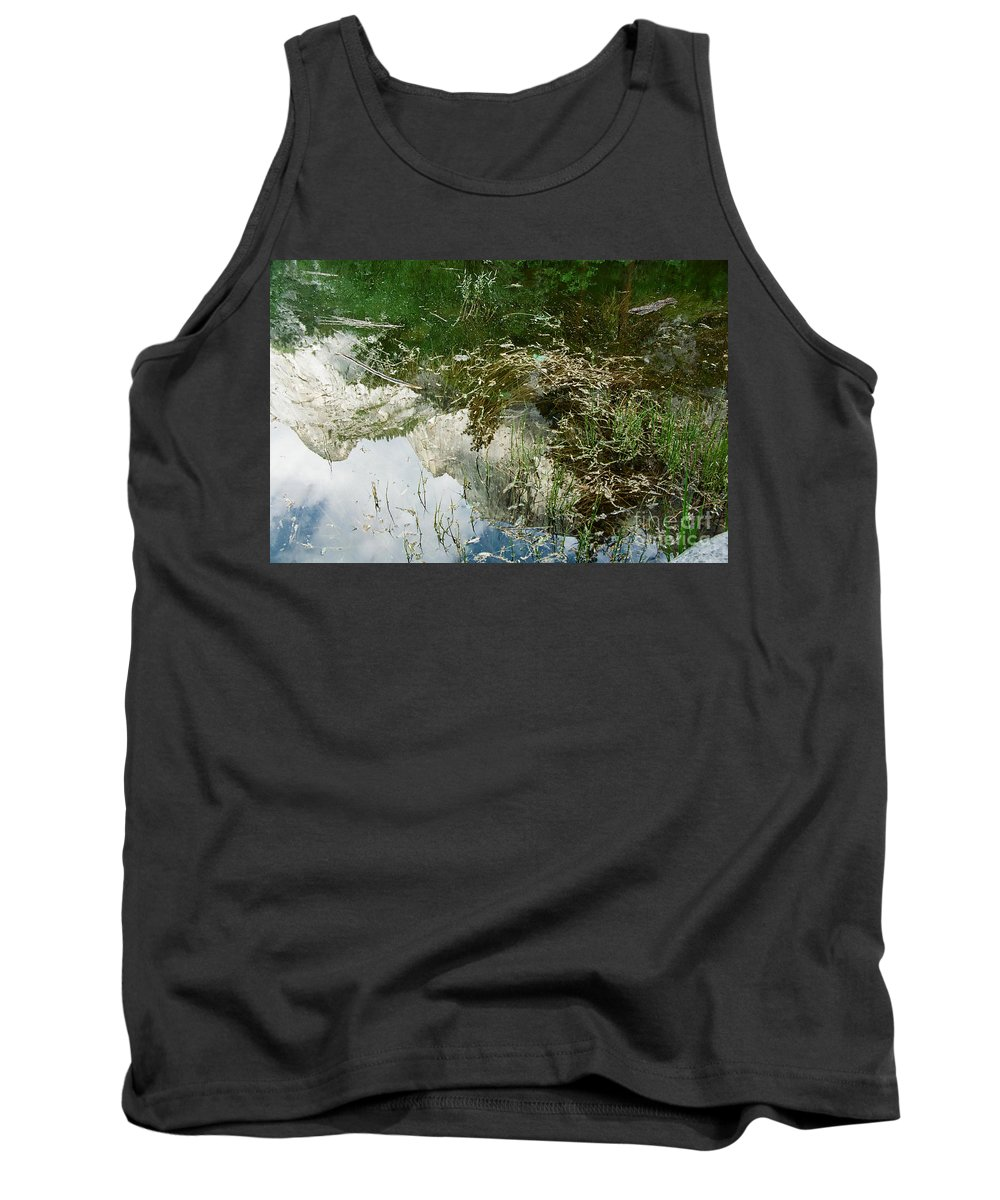 Mirror Lake Tank Top featuring the photograph Confusion by Kathy McClure