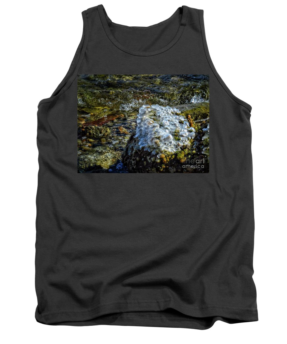 Ice Tank Top featuring the photograph Conglomerate Ice by Rrrose Pix