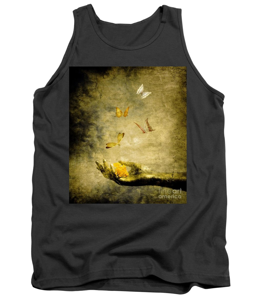 Inspirational Tank Top featuring the painting Connect by Jacky Gerritsen