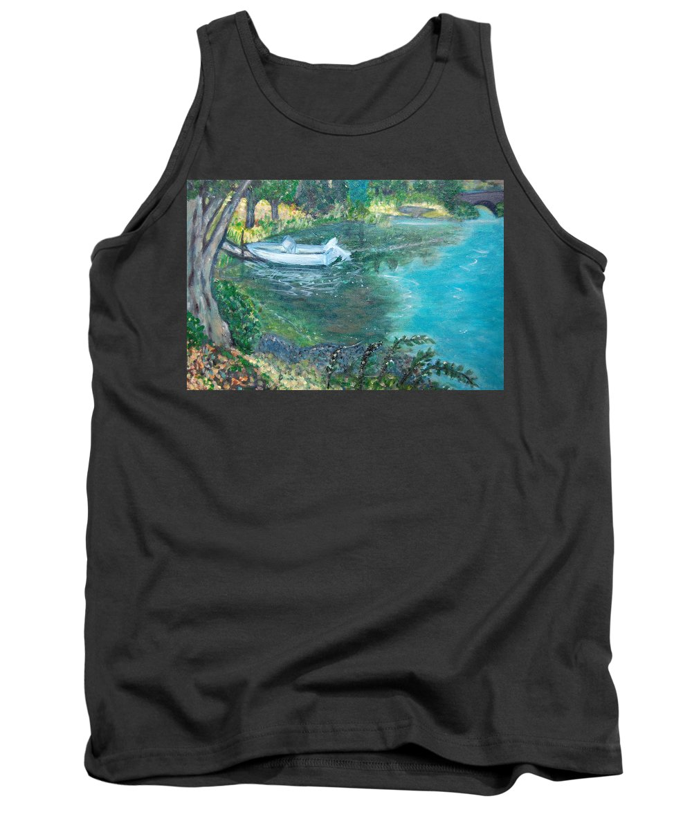 Connecticut Tank Top featuring the painting Connecticut River by Carolyn Donnell