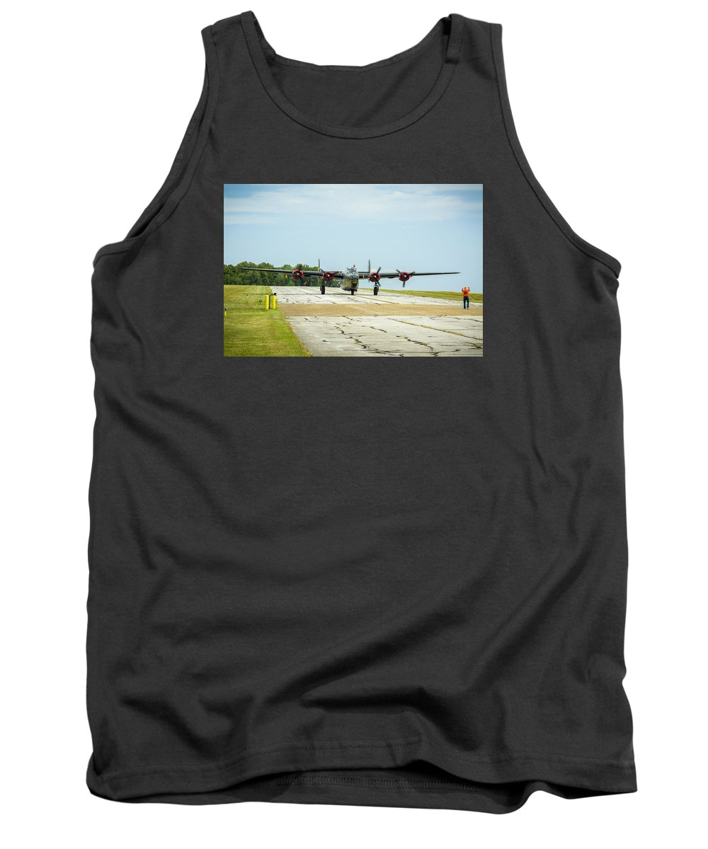Aircraft Tank Top featuring the photograph Consolidated B-24j Liberator by Jack R Perry