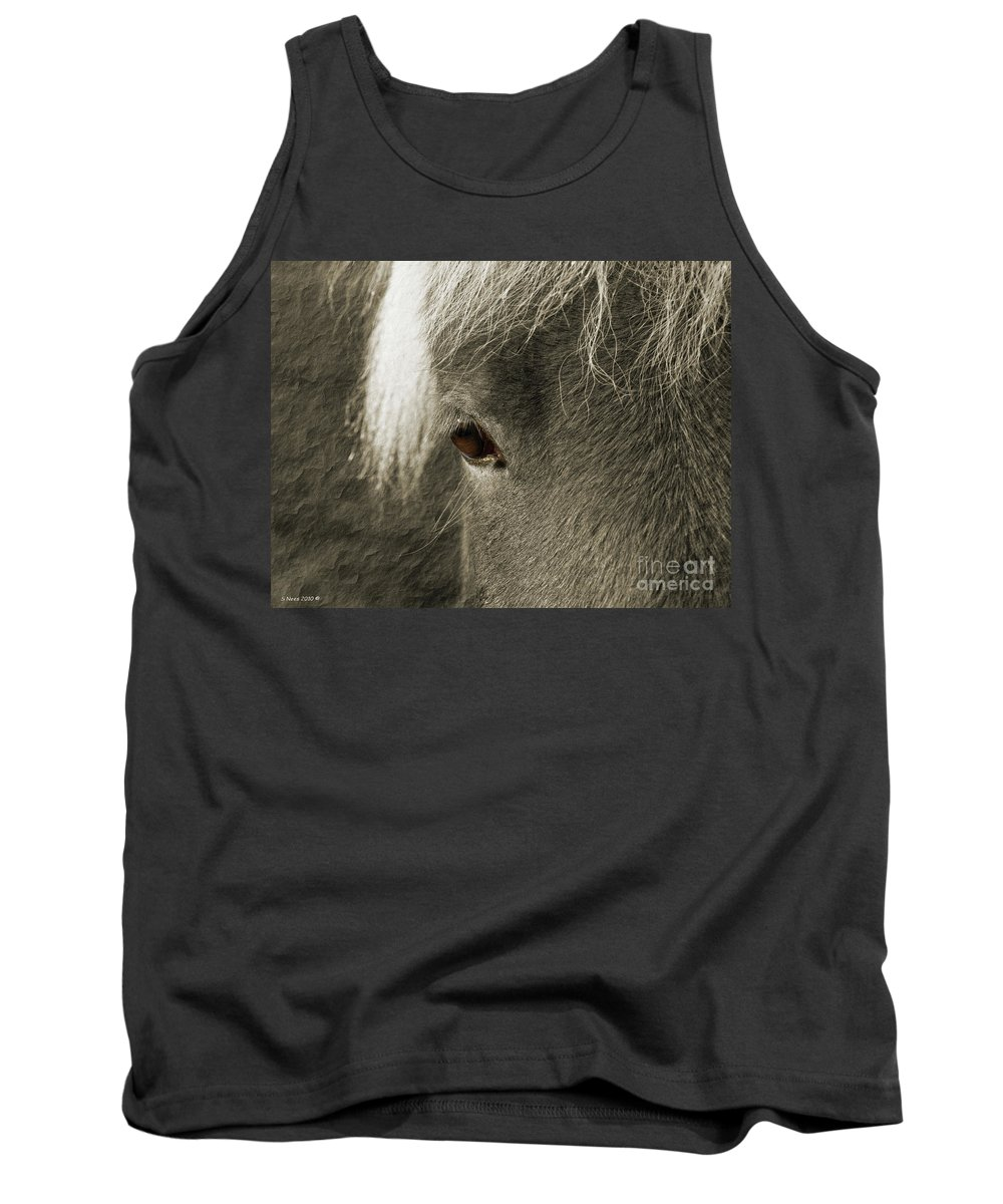 Icelandic Horse Tank Top featuring the photograph Contemplation by Shari Nees