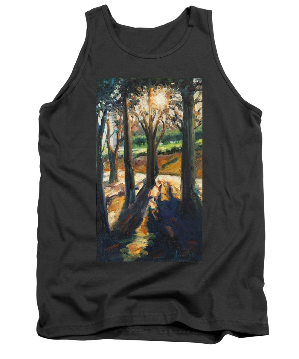 Trees Tank Top featuring the painting Contrast by Rick Nederlof