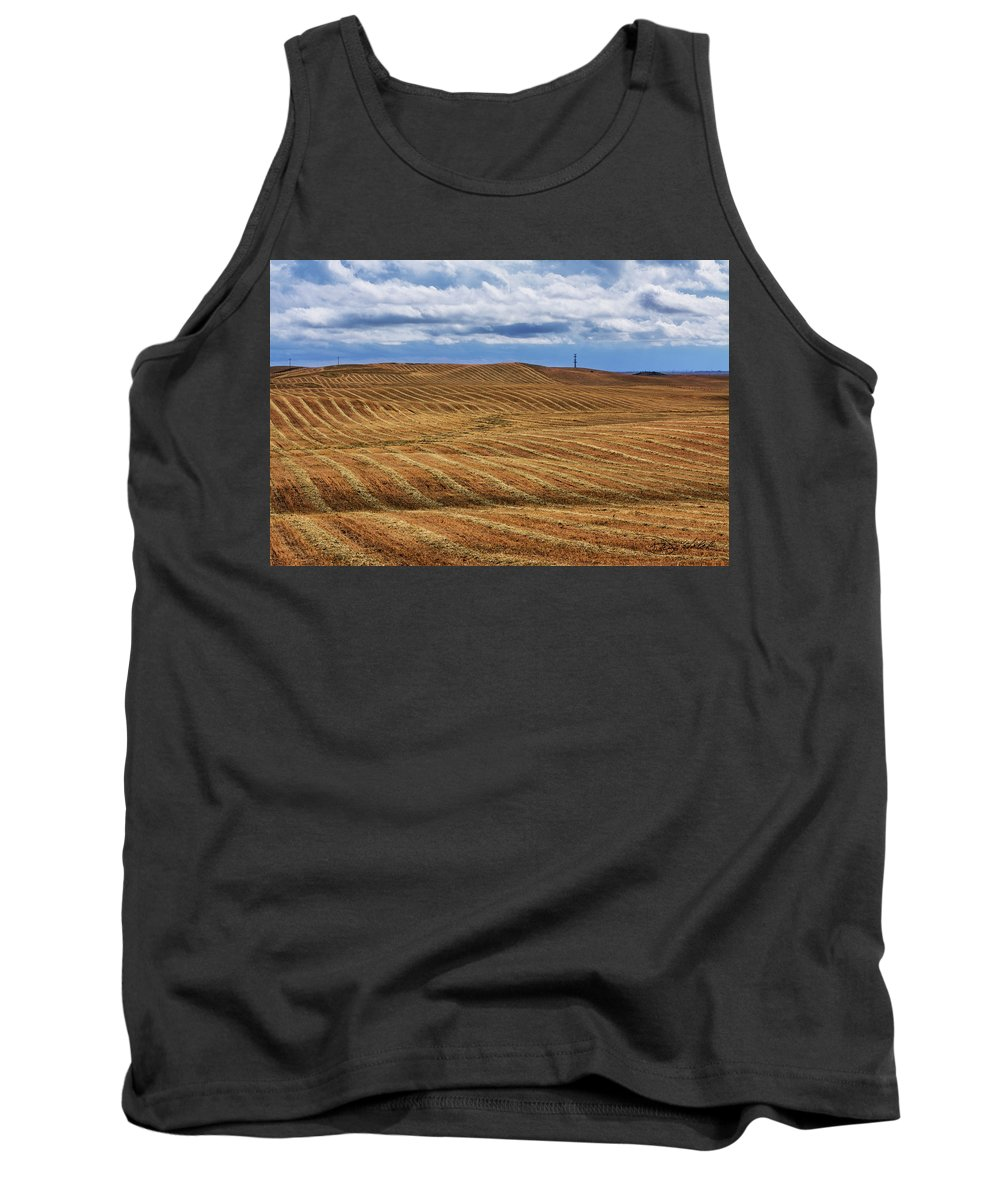 Farm Land Tank Top featuring the photograph Corduroy And Denim by Doug Holck