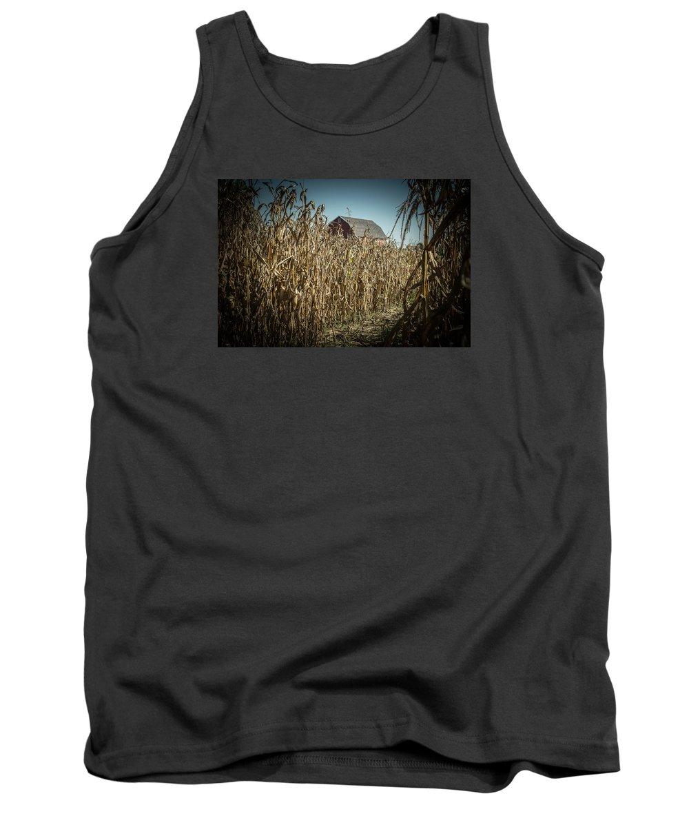 Corn Maze Tank Top featuring the photograph Corn Maze by Tim The Bikeman