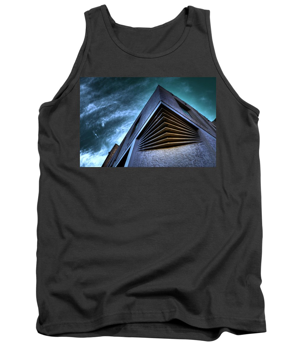 Architecture Tank Top featuring the photograph Corner Shot by Wayne Sherriff