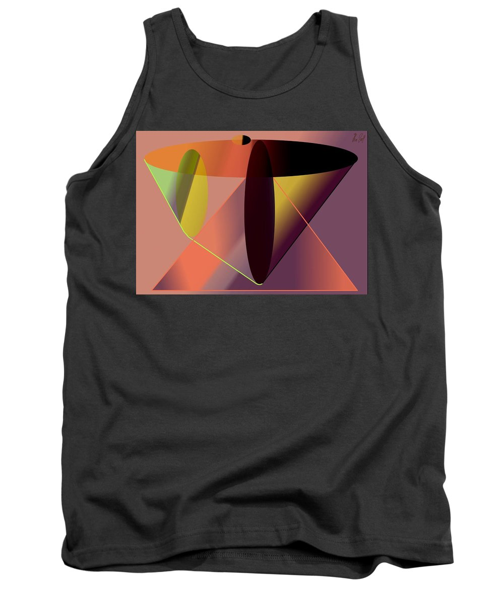 Cosmic Tank Top featuring the digital art Cosmic Lifecircuits by Helmut Rottler