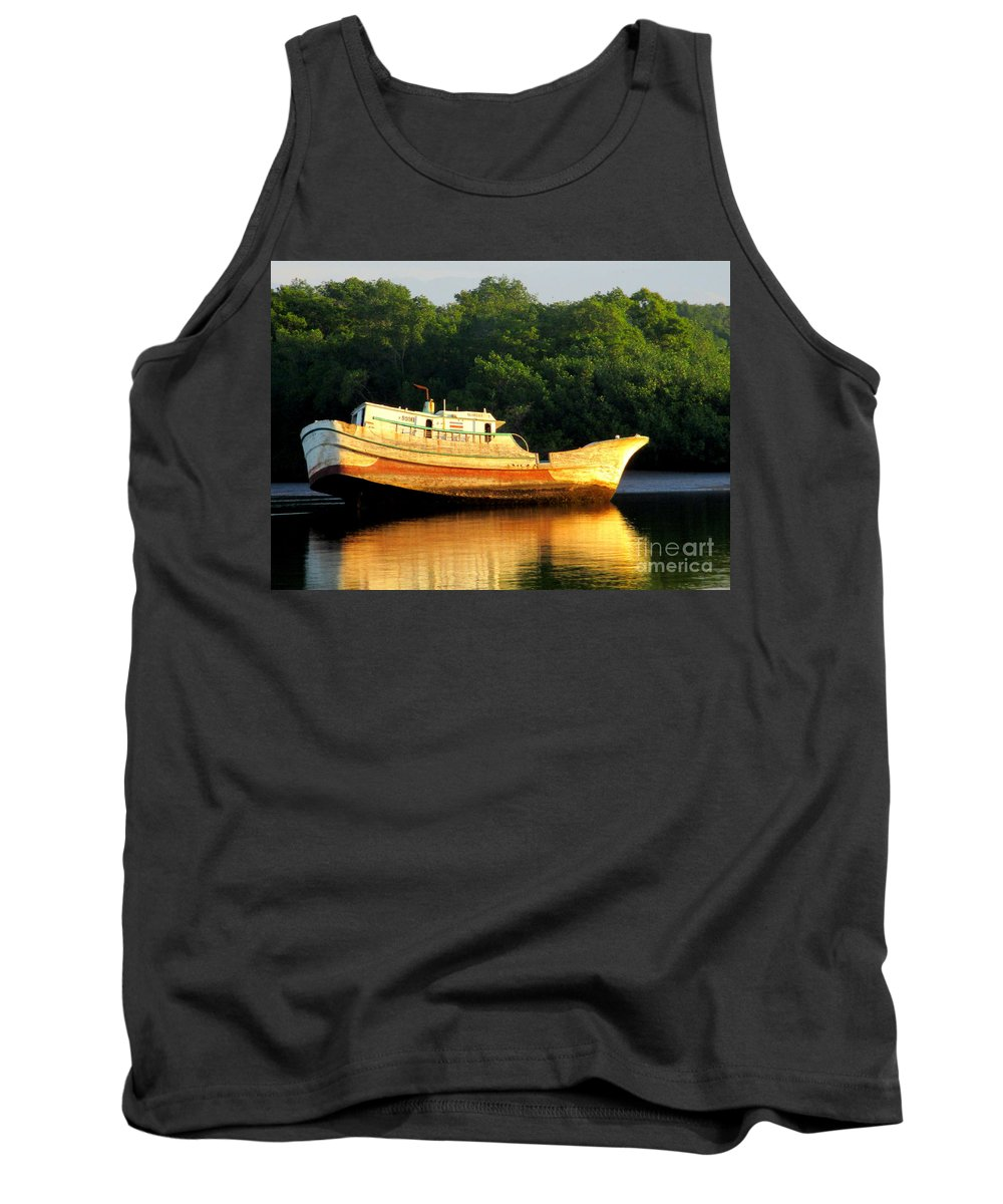 Costa Rica Tank Top featuring the photograph Costa Rica Wreck 3 by Randall Weidner