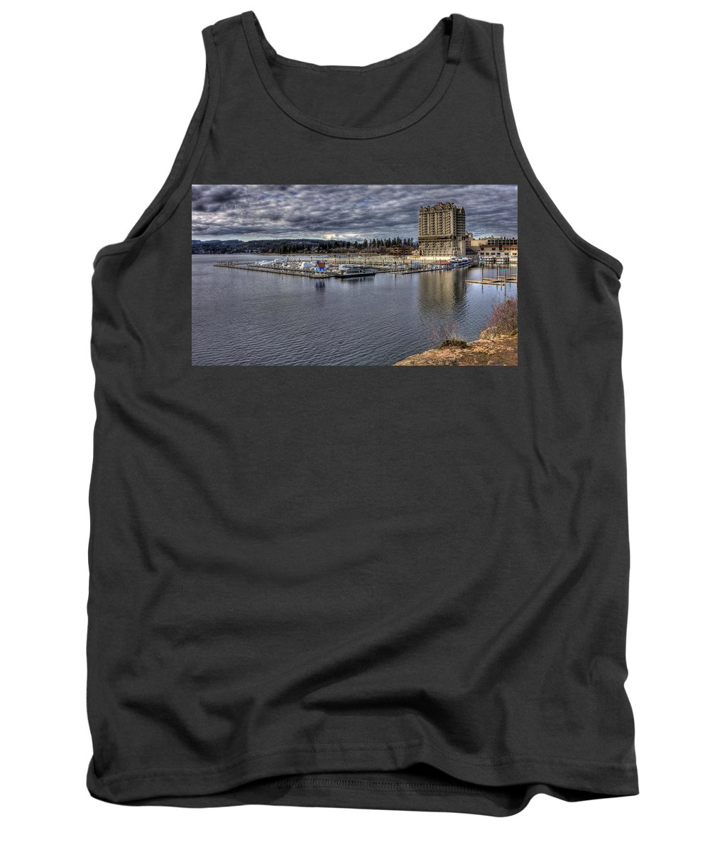 Landscape Tank Top featuring the photograph Couer D'alene Resort 3 by Lee Santa