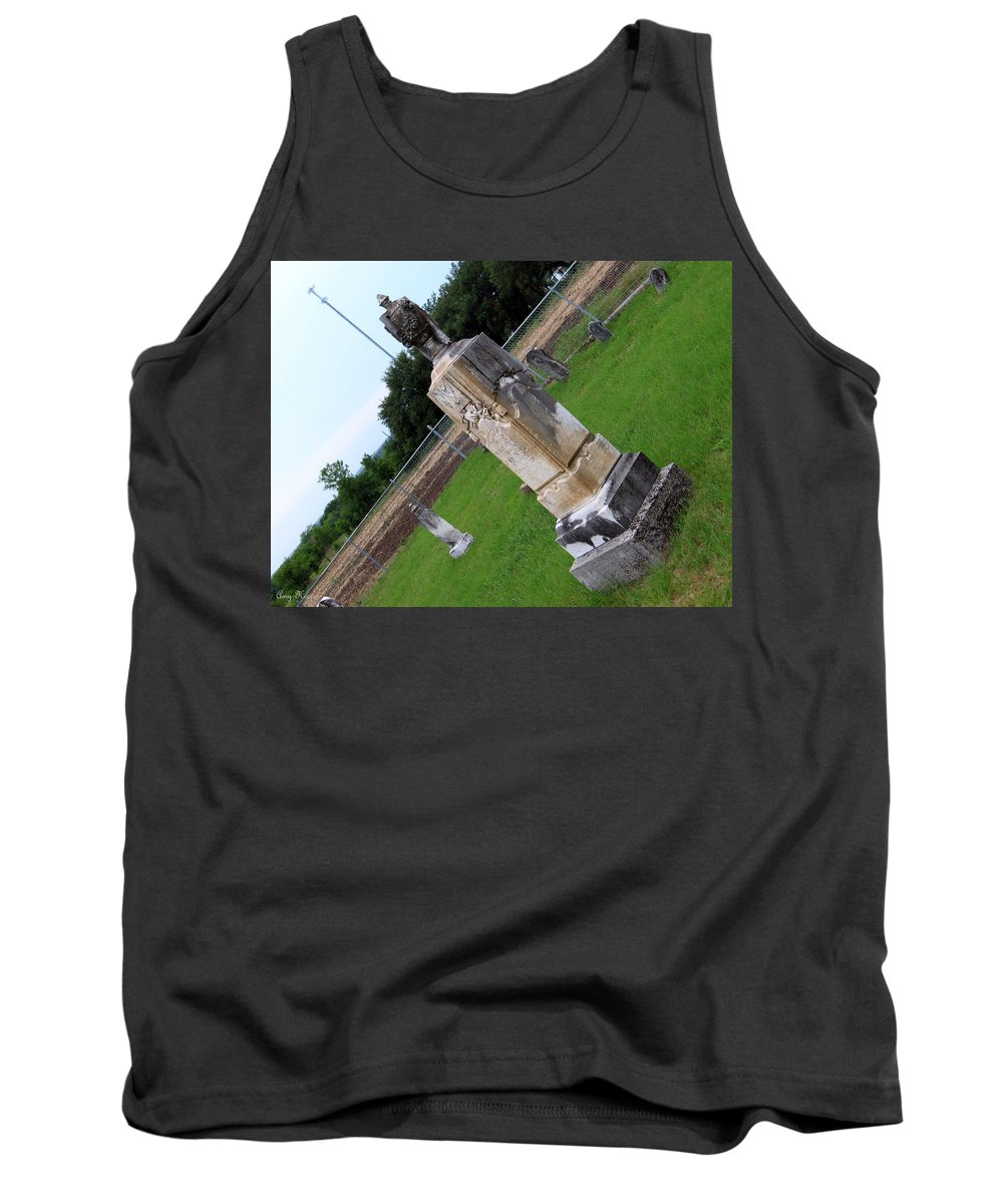 Cemetery Tank Top featuring the photograph Country Cemetery by Amy Hosp