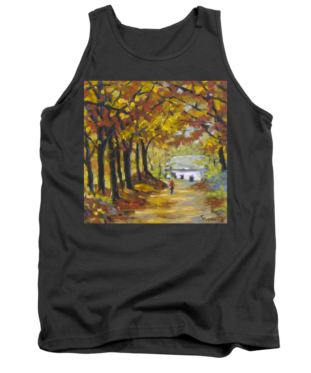 Art Tank Top featuring the painting Country Lane by Richard T Pranke