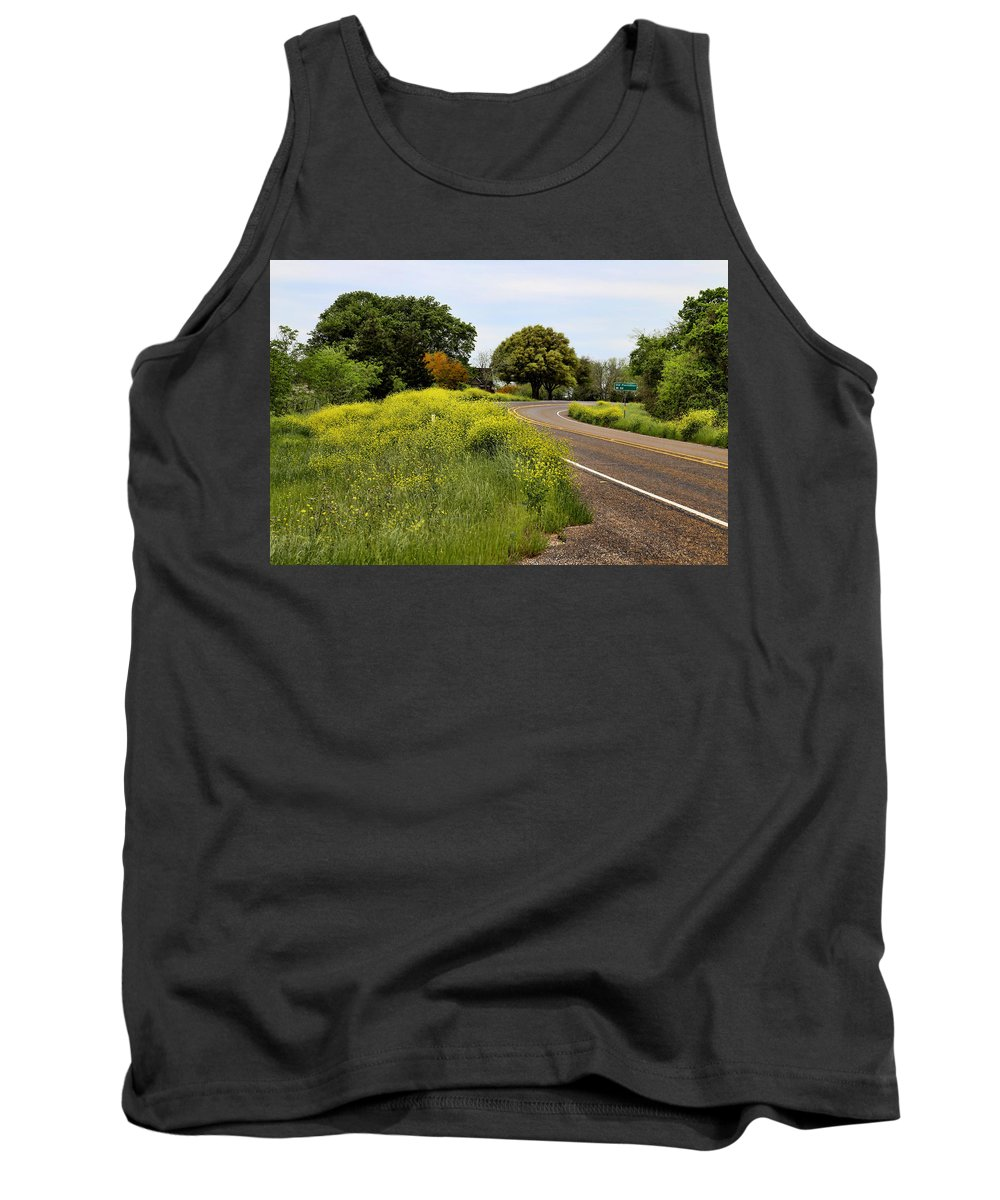 America Tank Top featuring the photograph Country Road by Judy Vincent