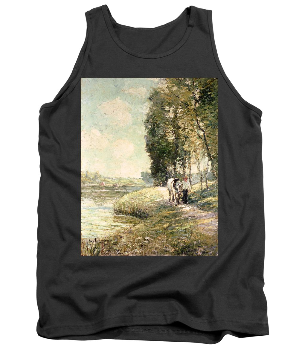 Country Road To Spuyten Tank Top featuring the painting Country Road To Spuyten by Ernest Lawson