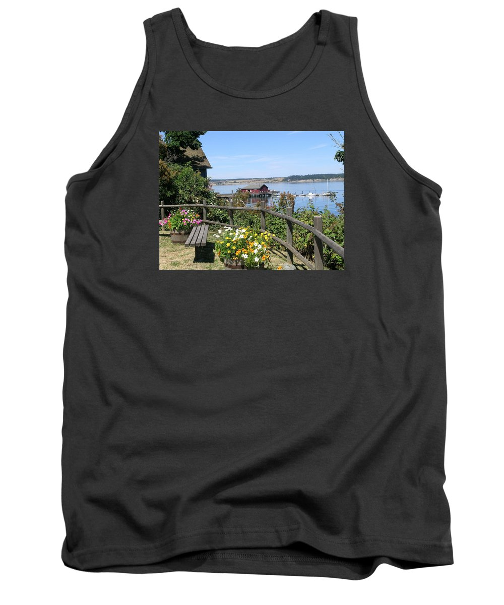 Coupeville Tank Top featuring the photograph Coupeville Wharf by Mary Gaines