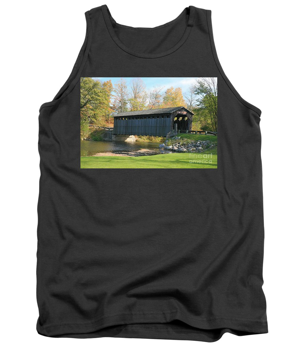 Covered Bridge Tank Top featuring the photograph Covered Bridge by Robert Pearson