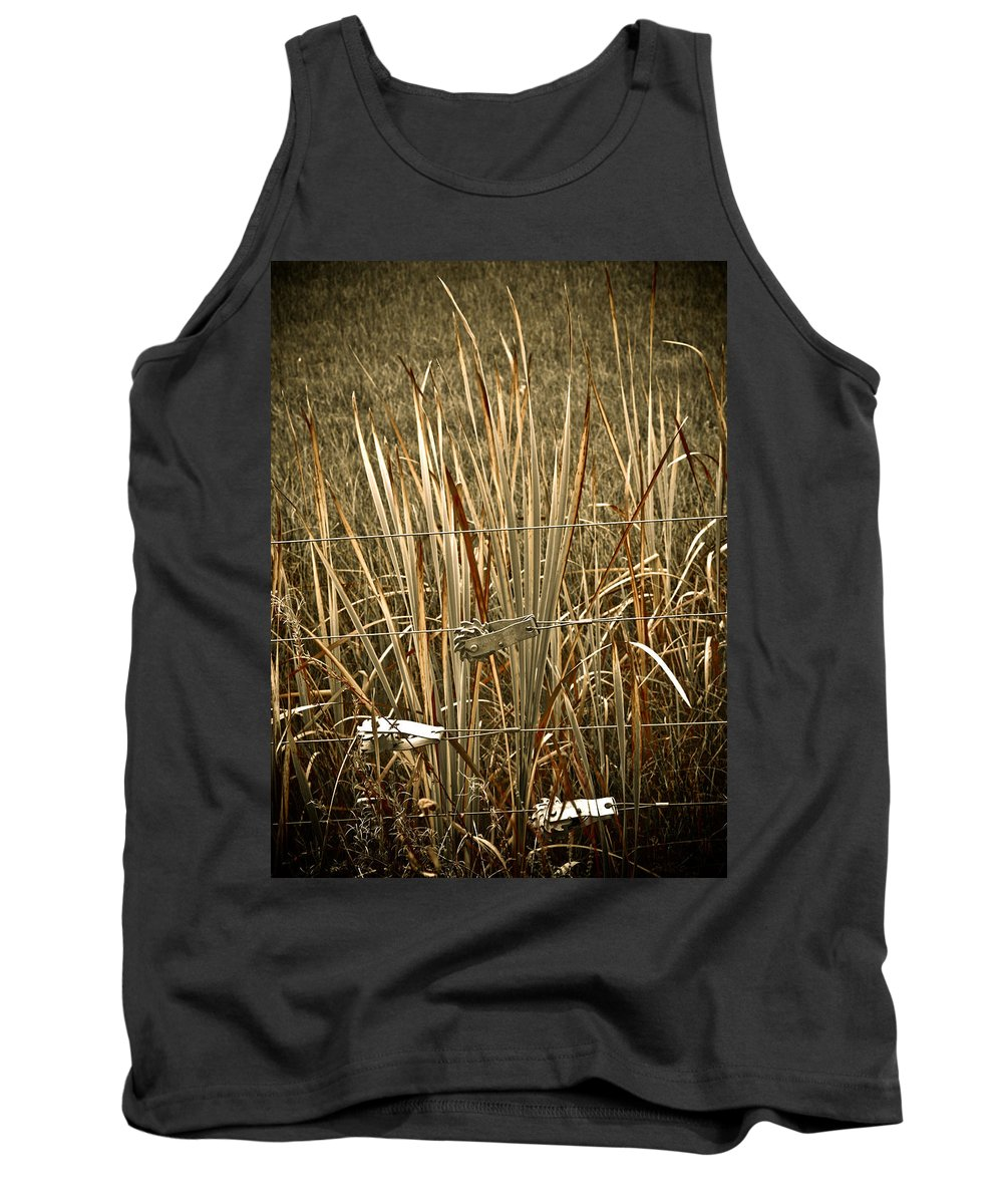 Americana Tank Top featuring the photograph Cowboy Fence by Marilyn Hunt