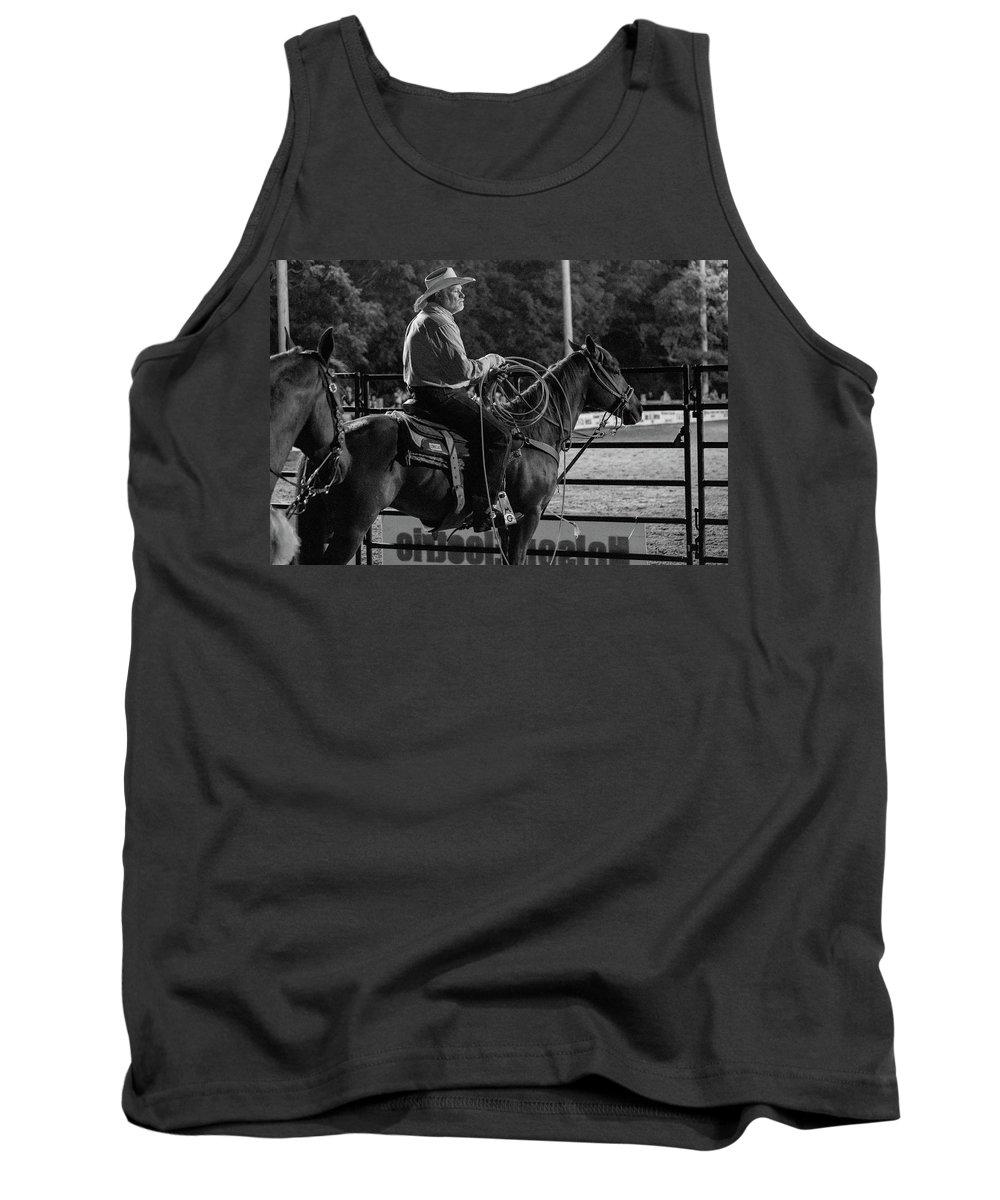 Horse Tank Top featuring the photograph Cowboy by Glenn Matthews