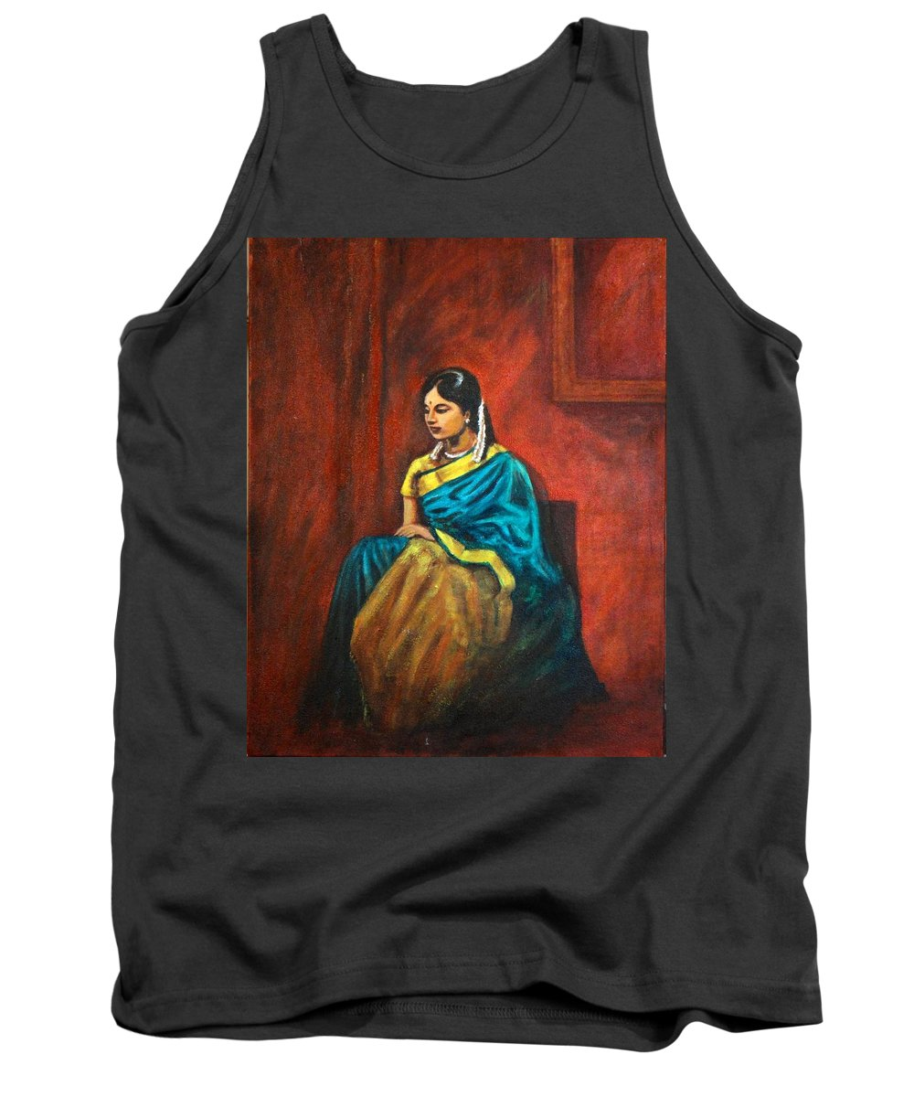 Coy Tank Top featuring the painting Coy by Usha Shantharam