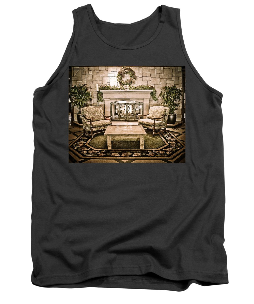 Vail Tank Top featuring the photograph Cozy by Marilyn Hunt