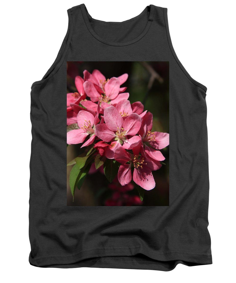Tree Tank Top featuring the photograph Crab Apple Blossoms by Lyle Hatch