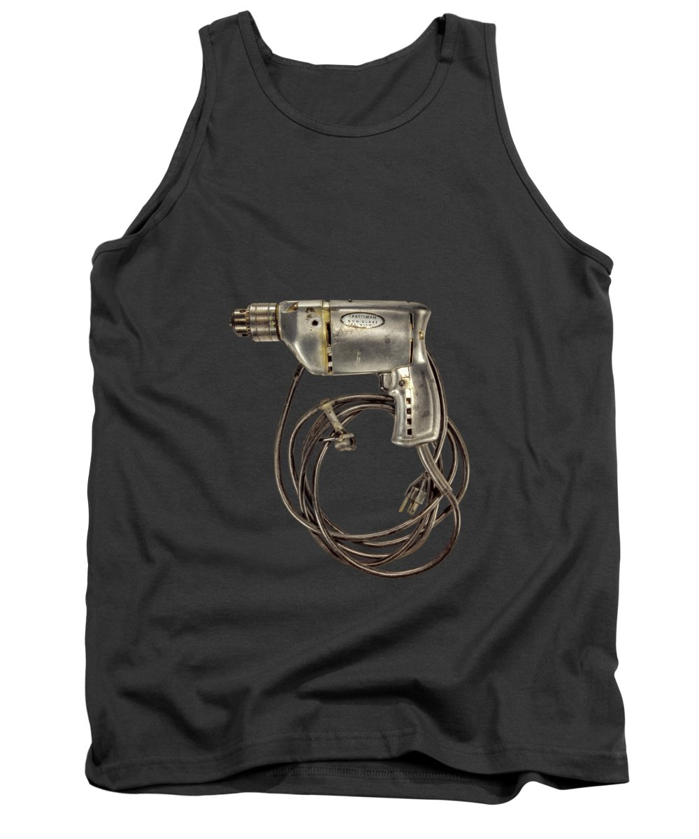 Antique Tank Top featuring the photograph Craftsman Drill Motor L by YoPedro