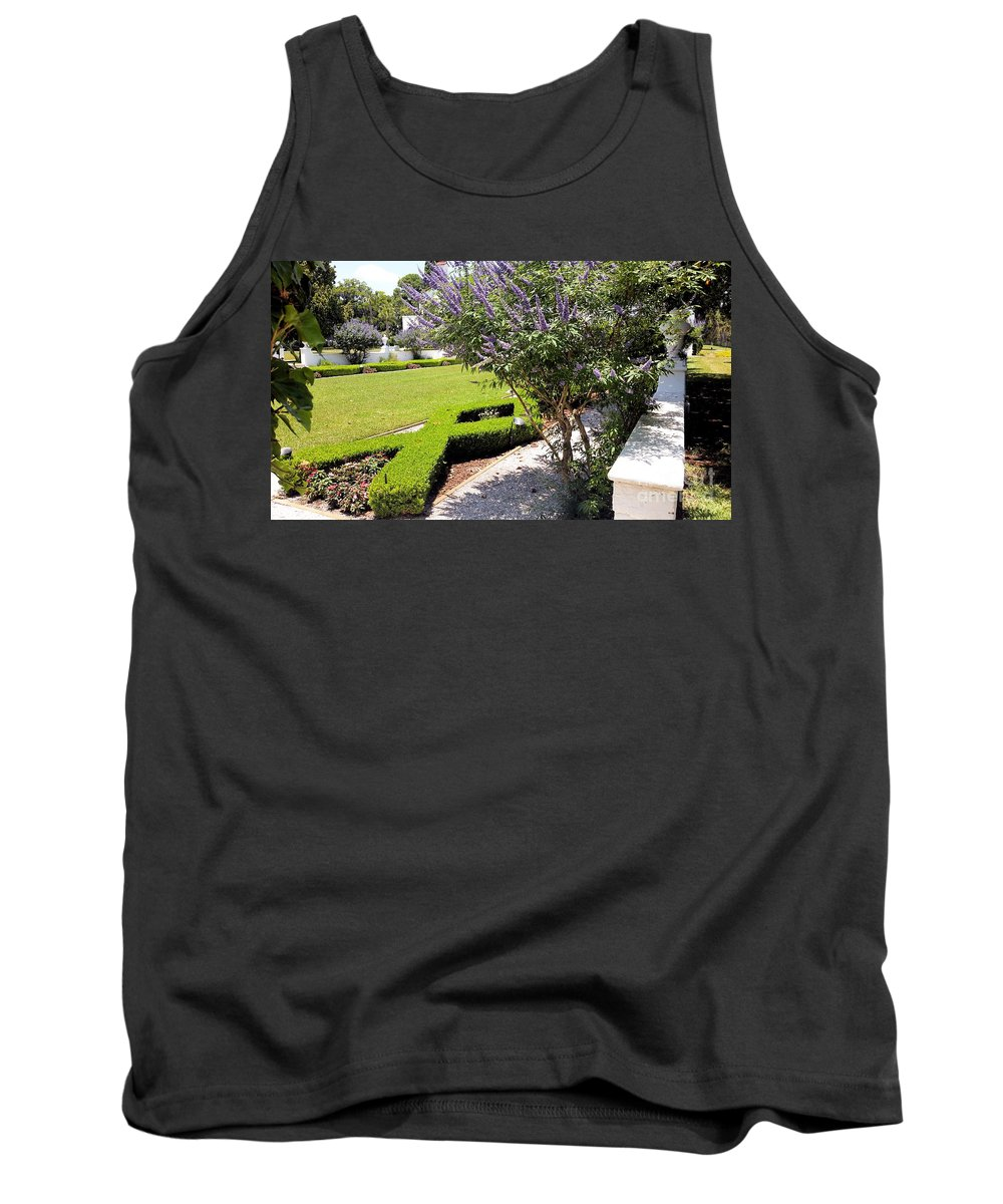 Crane Cottage Tank Top featuring the photograph Crane Cottage Garden In Spring by Katherine W Morse