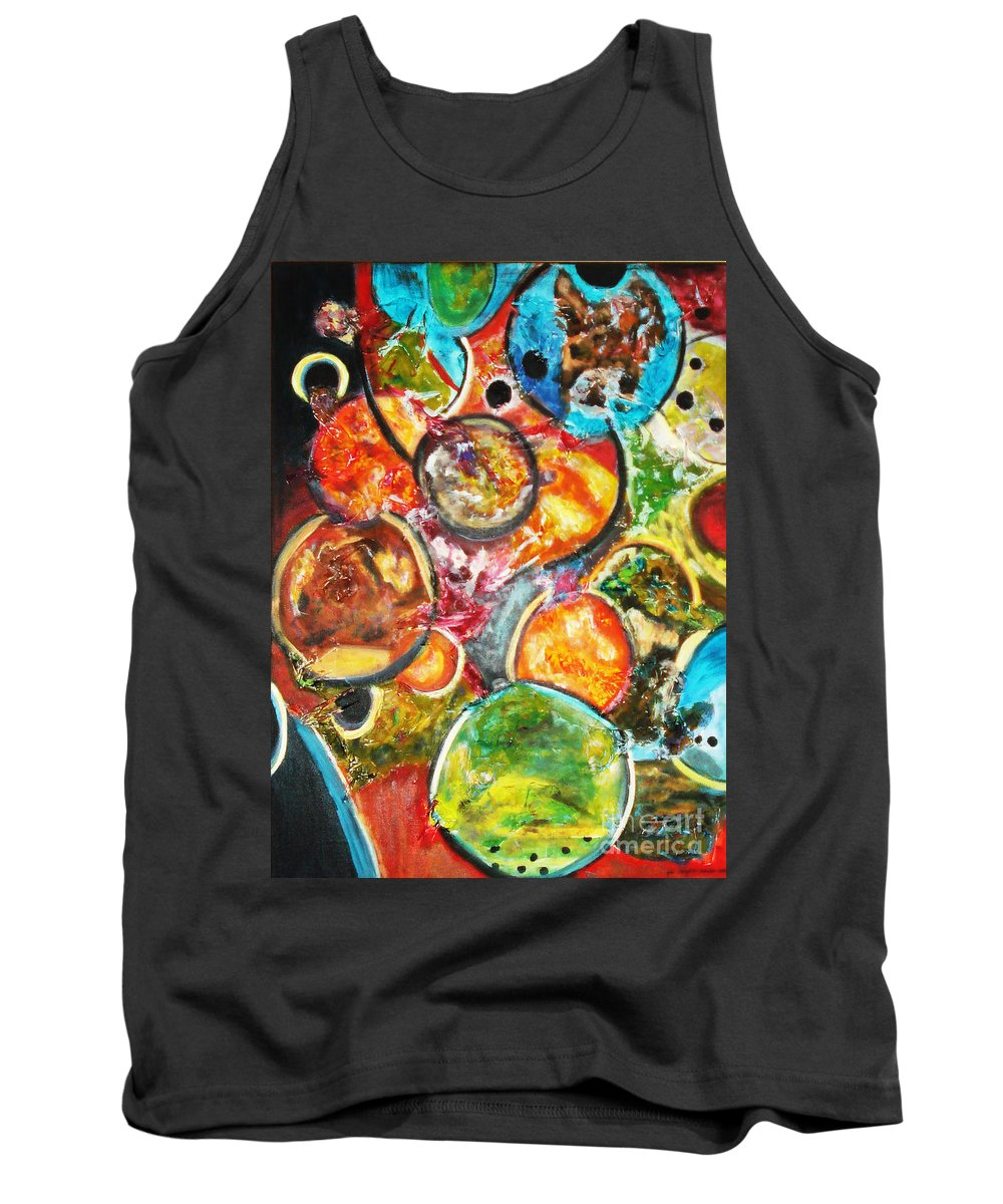 Acrylic Painting Tank Top featuring the painting Creative by Yael VanGruber