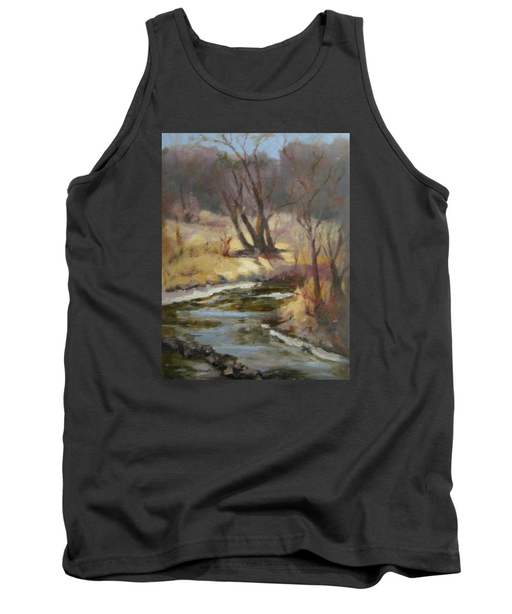 Plein Air Landscape Tank Top featuring the painting Credit River by Patricia Kness