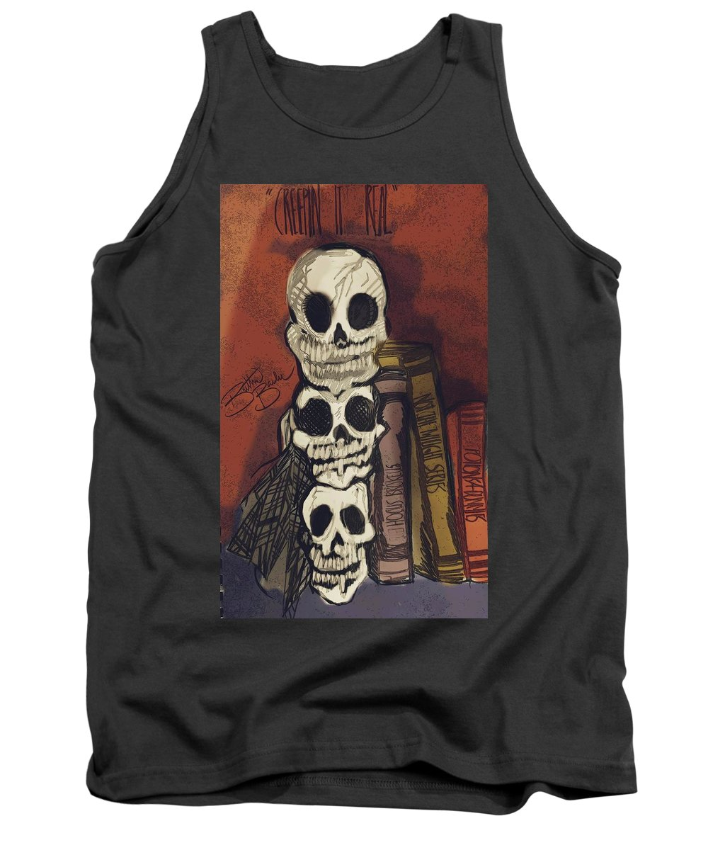 Tank Top featuring the drawing Creepin' It Real. by Brittni Bailie