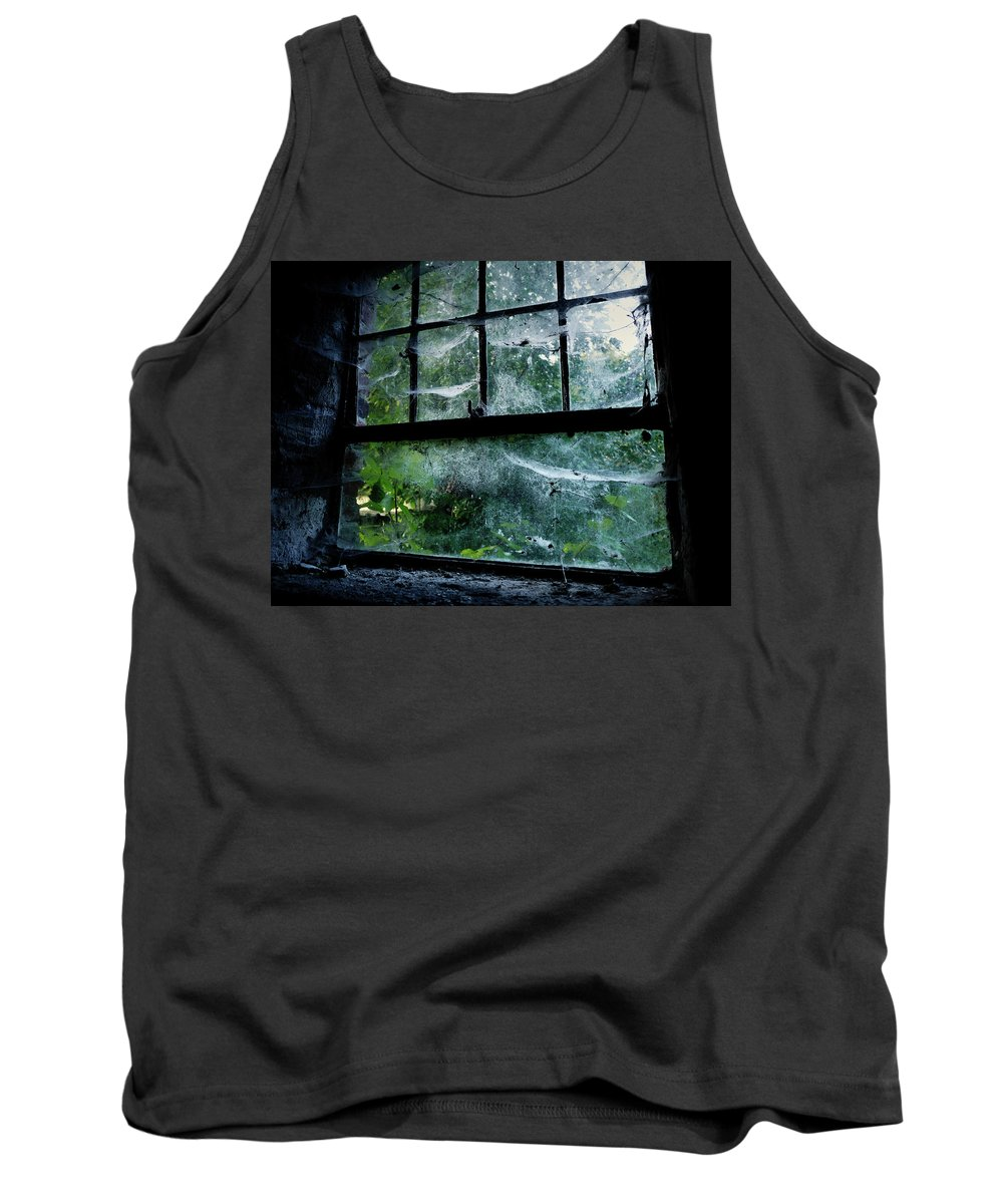 Creepy Tank Top featuring the photograph Creepy Old Window by Jarno Holappa